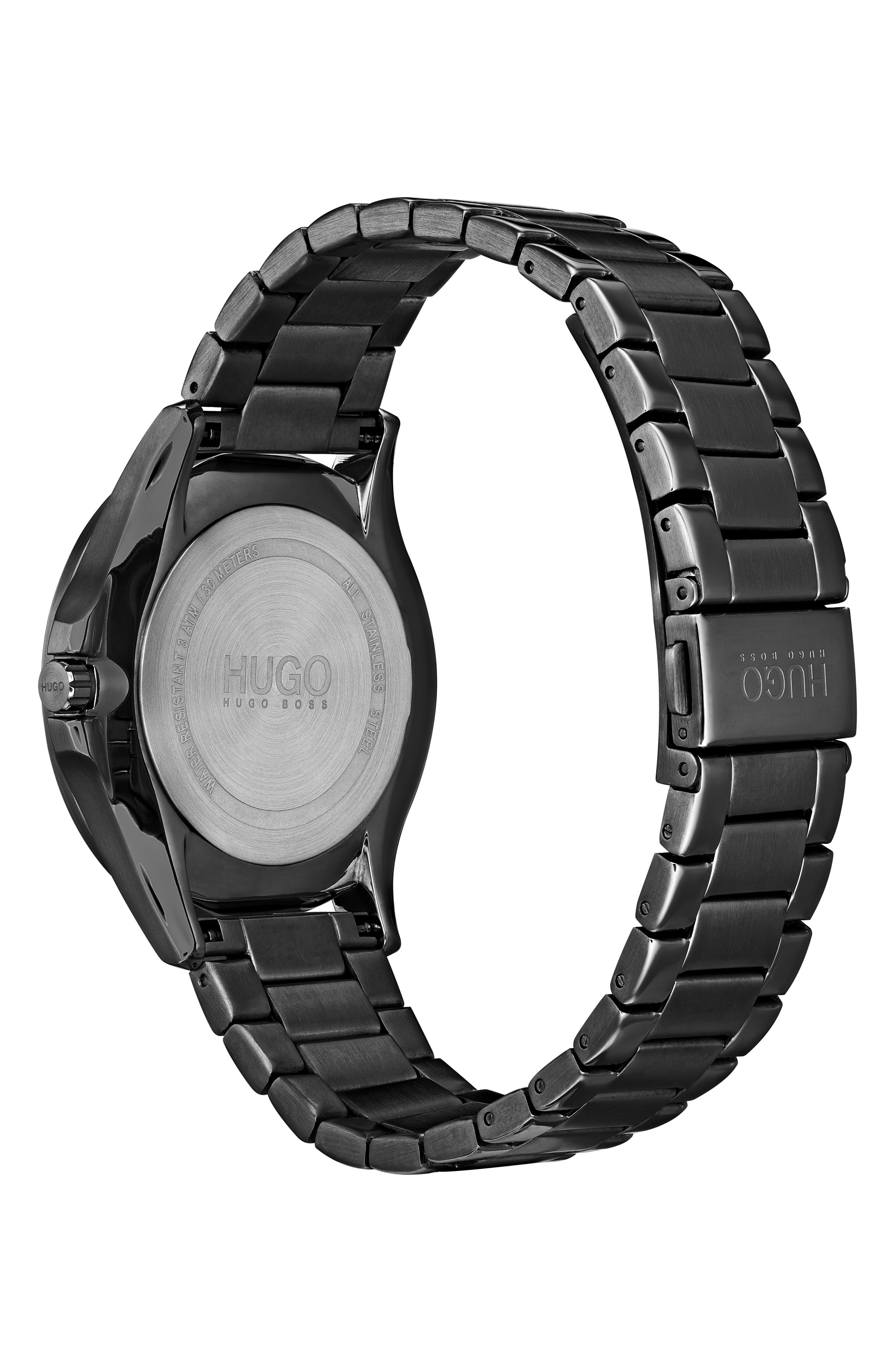 Bracelet Watch, 41mm,                             Alternate thumbnail 2, color,                             BLACK
