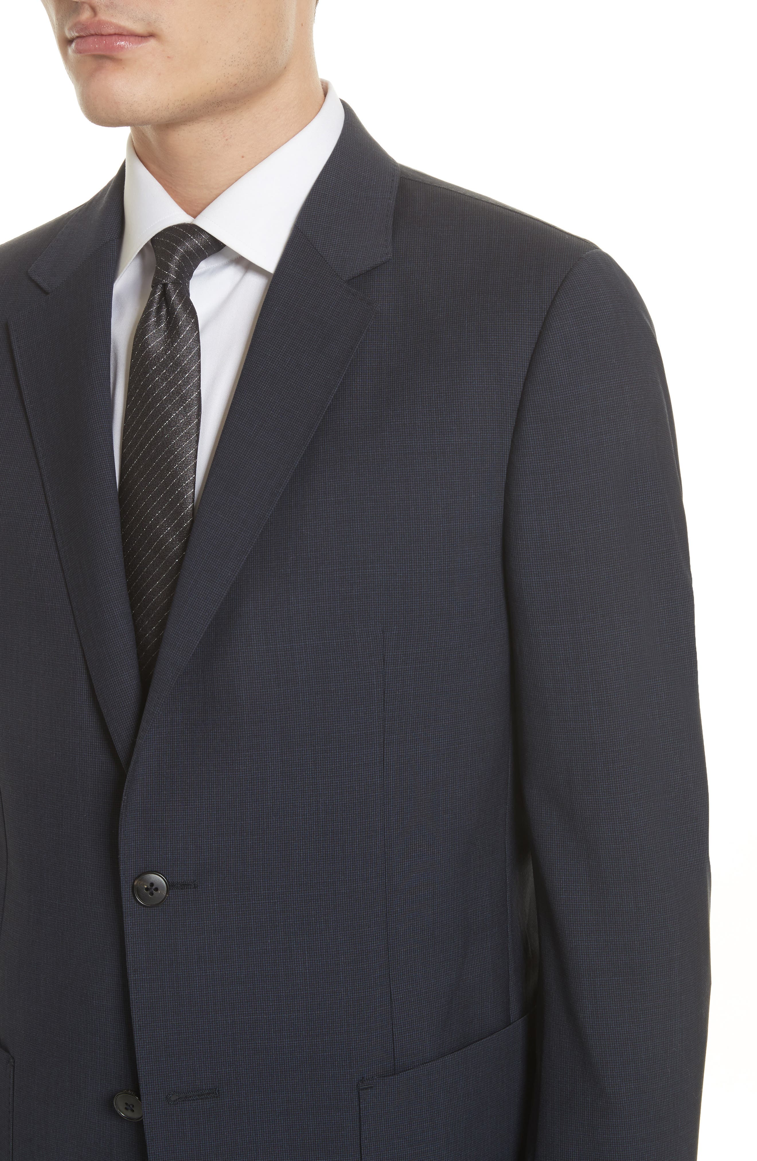 TECHMERINO<sup>™</sup> Wash & Go Trim Fit Solid Wool Suit,                             Alternate thumbnail 5, color,                             412