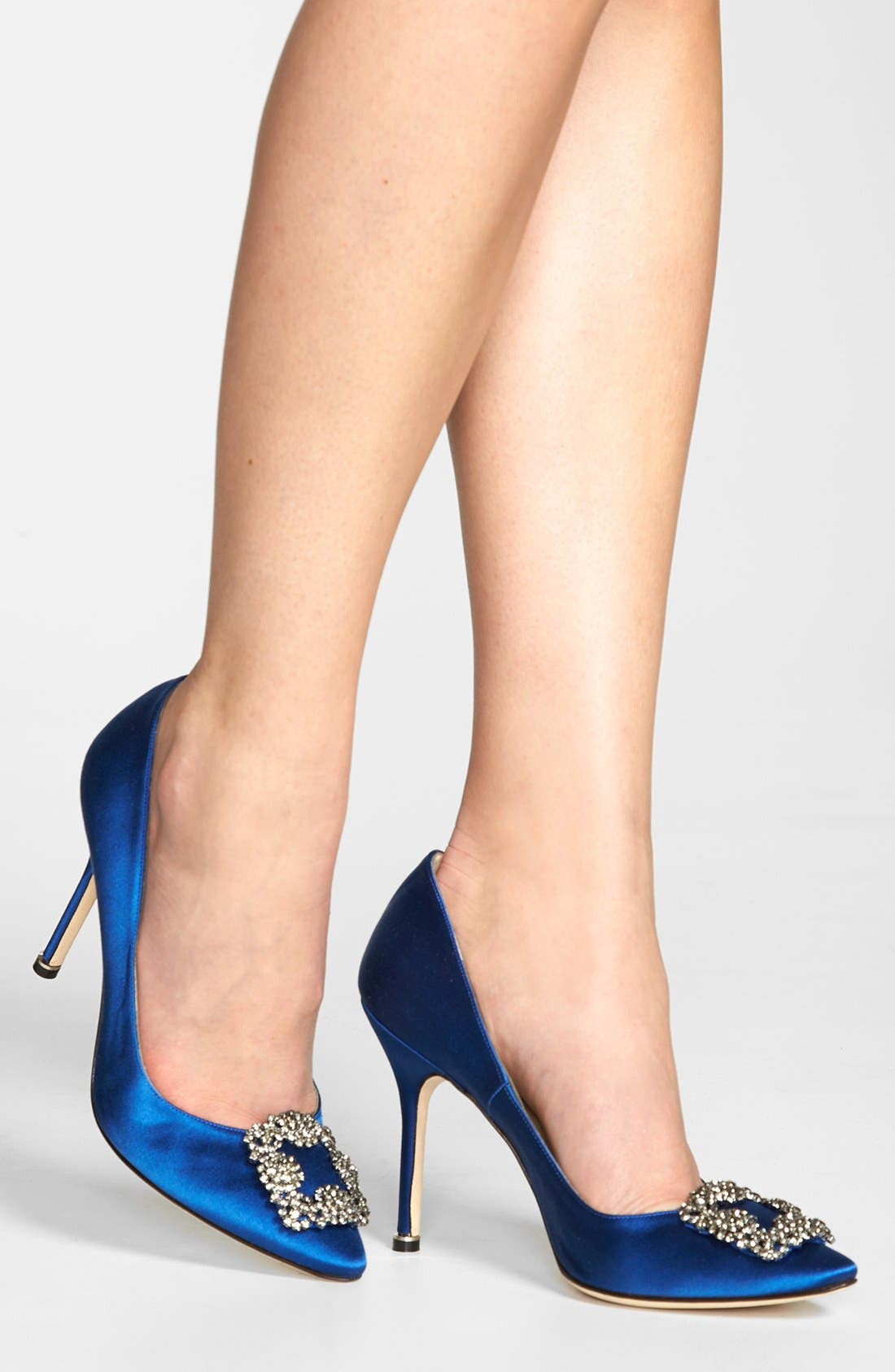 'Hangisi' Jewel Pump,                             Alternate thumbnail 6, color,                             BLUE SATIN