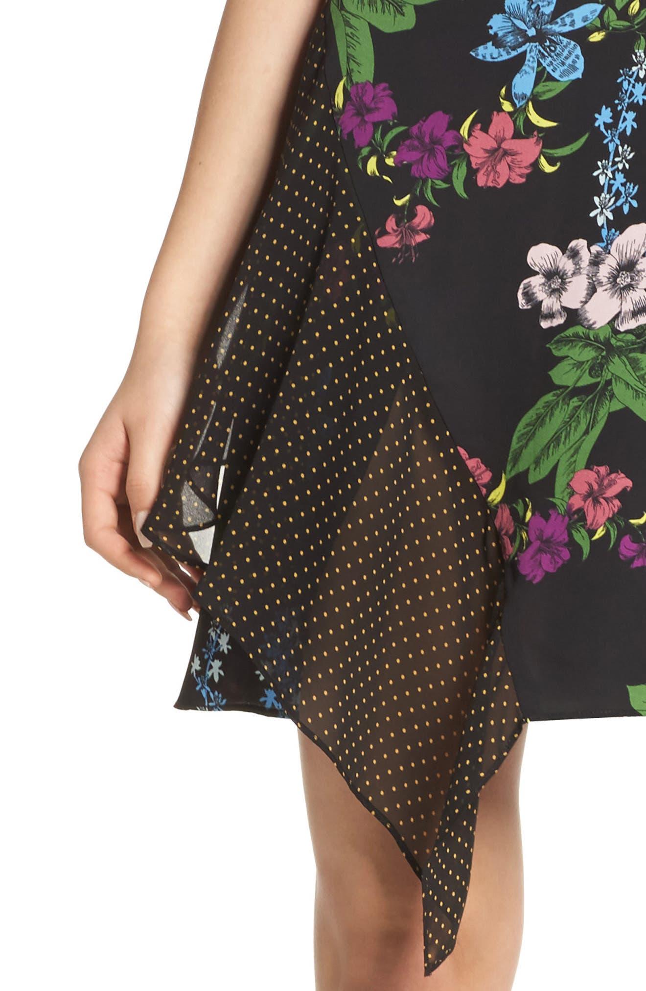 Side Drape Sheath Dress,                             Alternate thumbnail 4, color,