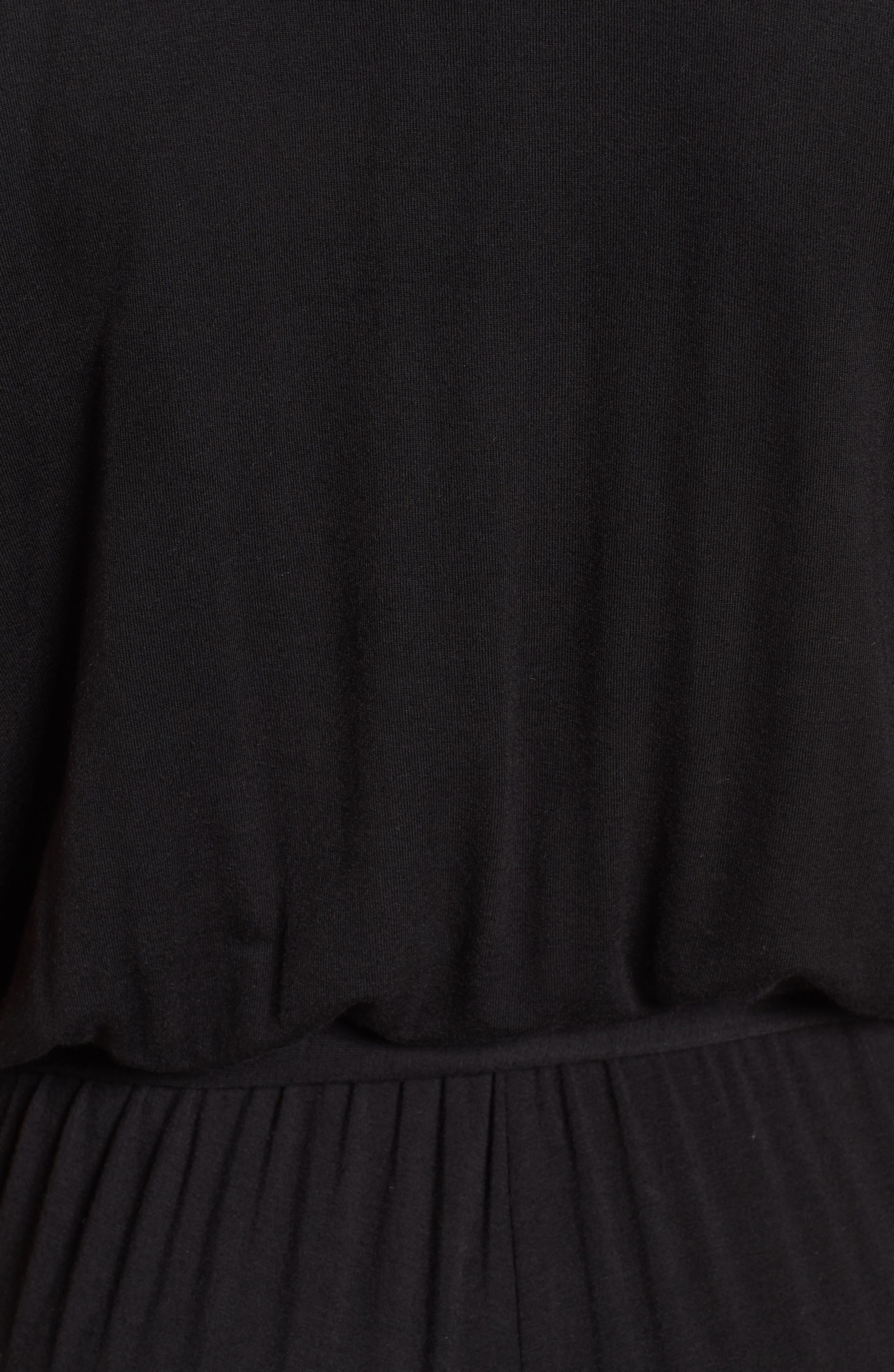 BOBEAU,                             Knit Surplus Jumpsuit,                             Alternate thumbnail 6, color,                             001