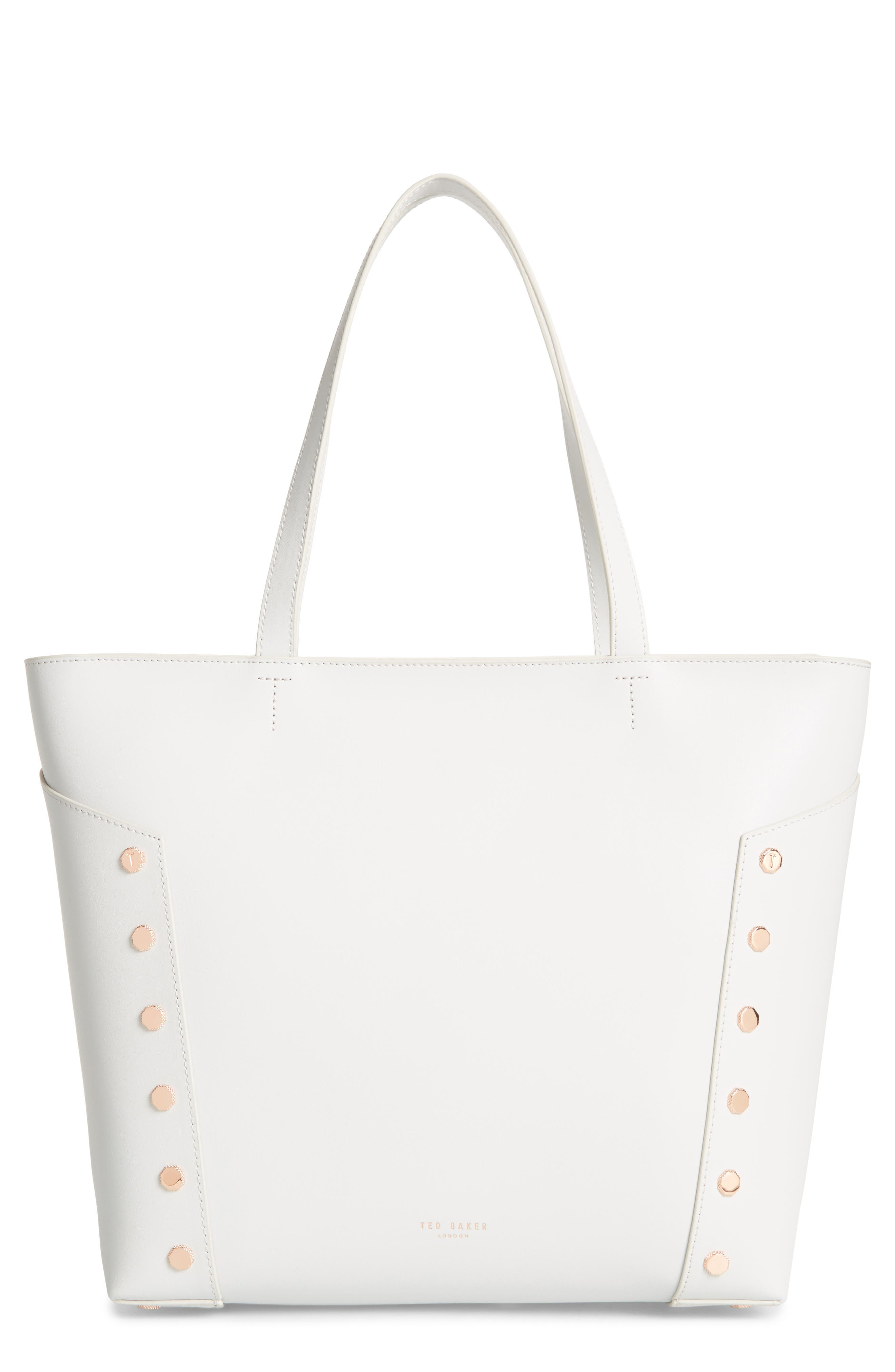 Tamiko Studded Leather Shopper,                         Main,                         color, 050