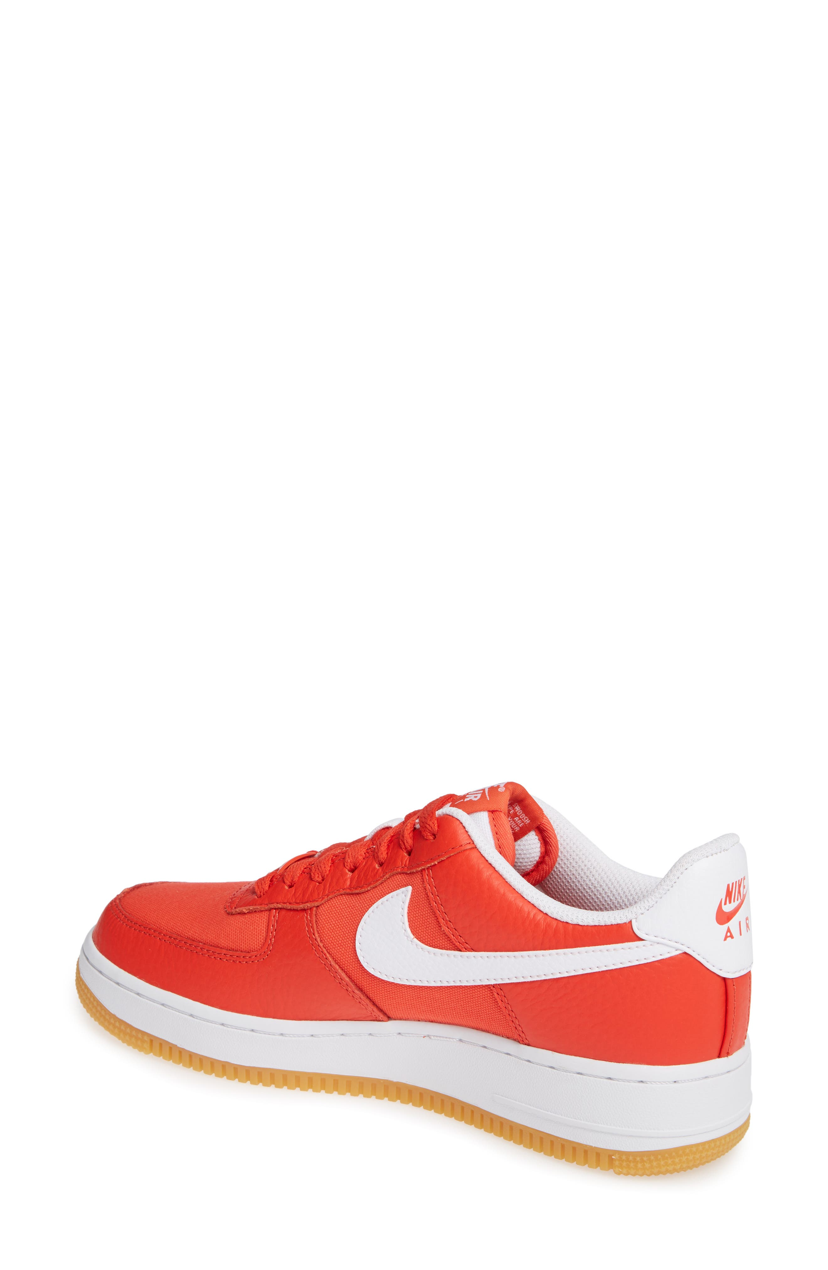 Air Force 1 '07 Premium Sneaker,                             Alternate thumbnail 2, color,                             RED/ WHITE/ LIGHT BROWN