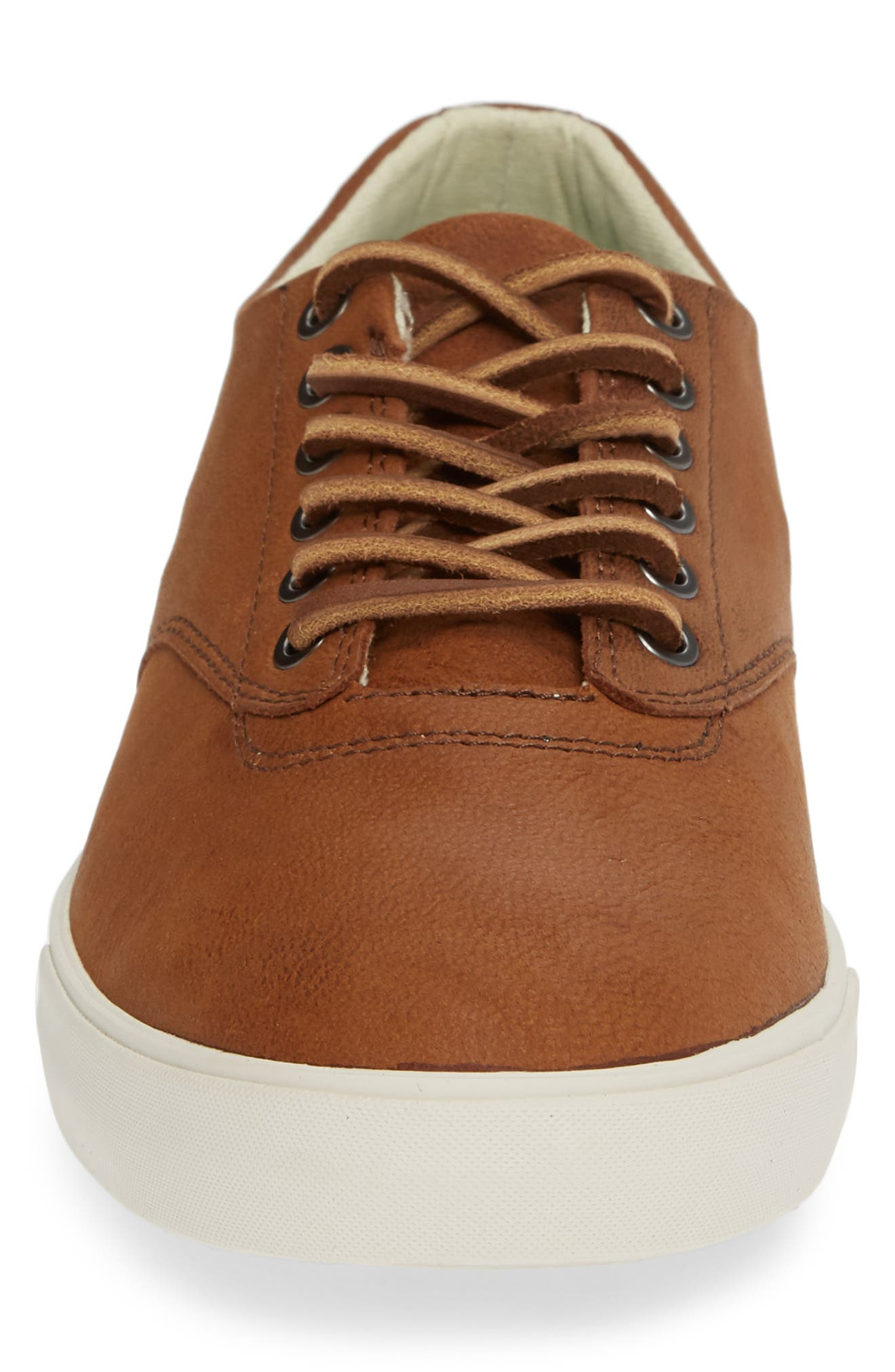 Hermosa Sneaker,                             Alternate thumbnail 4, color,                             WHISKEY LEATHER