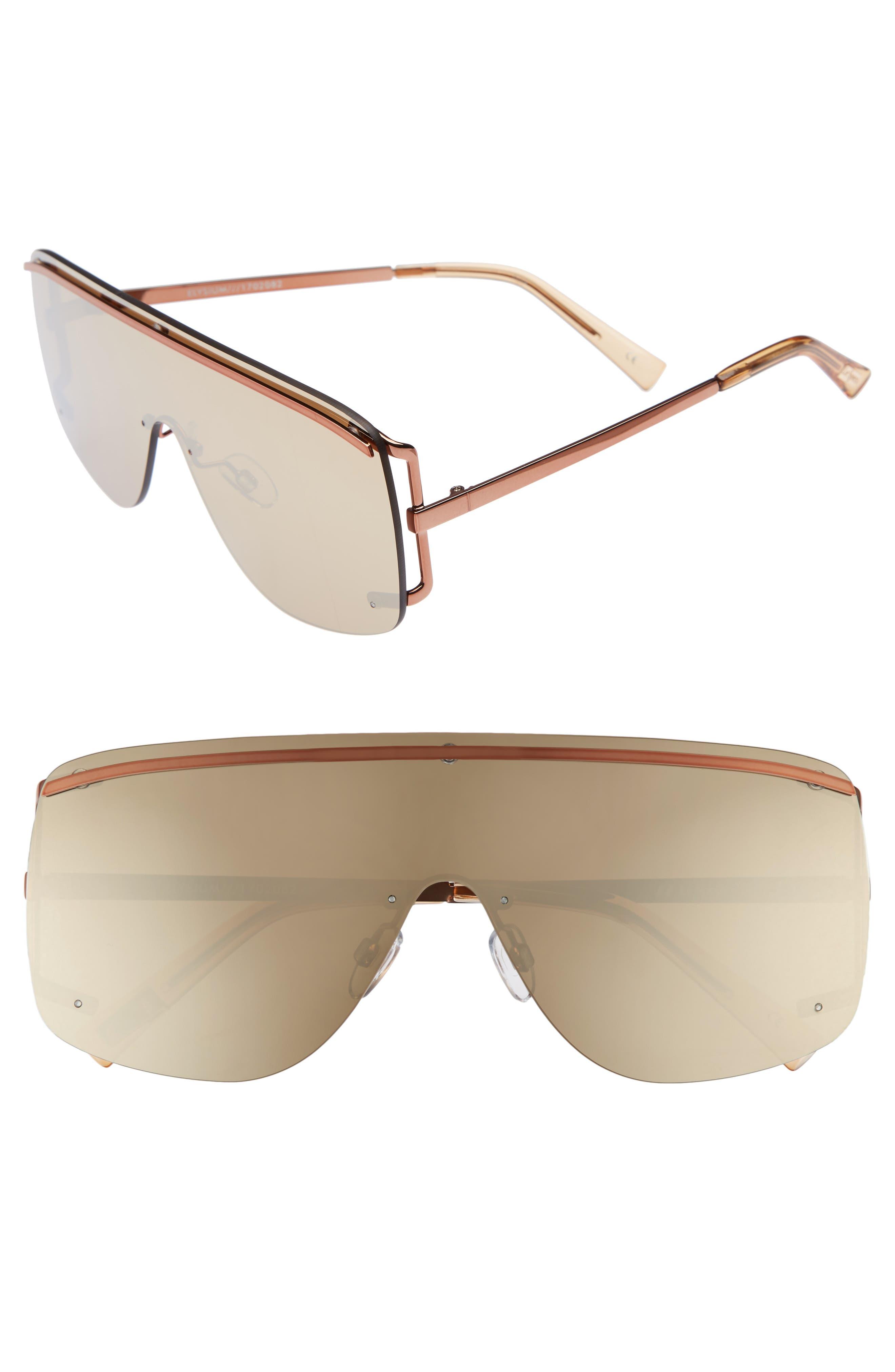 Elysium 140mm Shield Sunglasses,                             Main thumbnail 1, color,                             COPPER