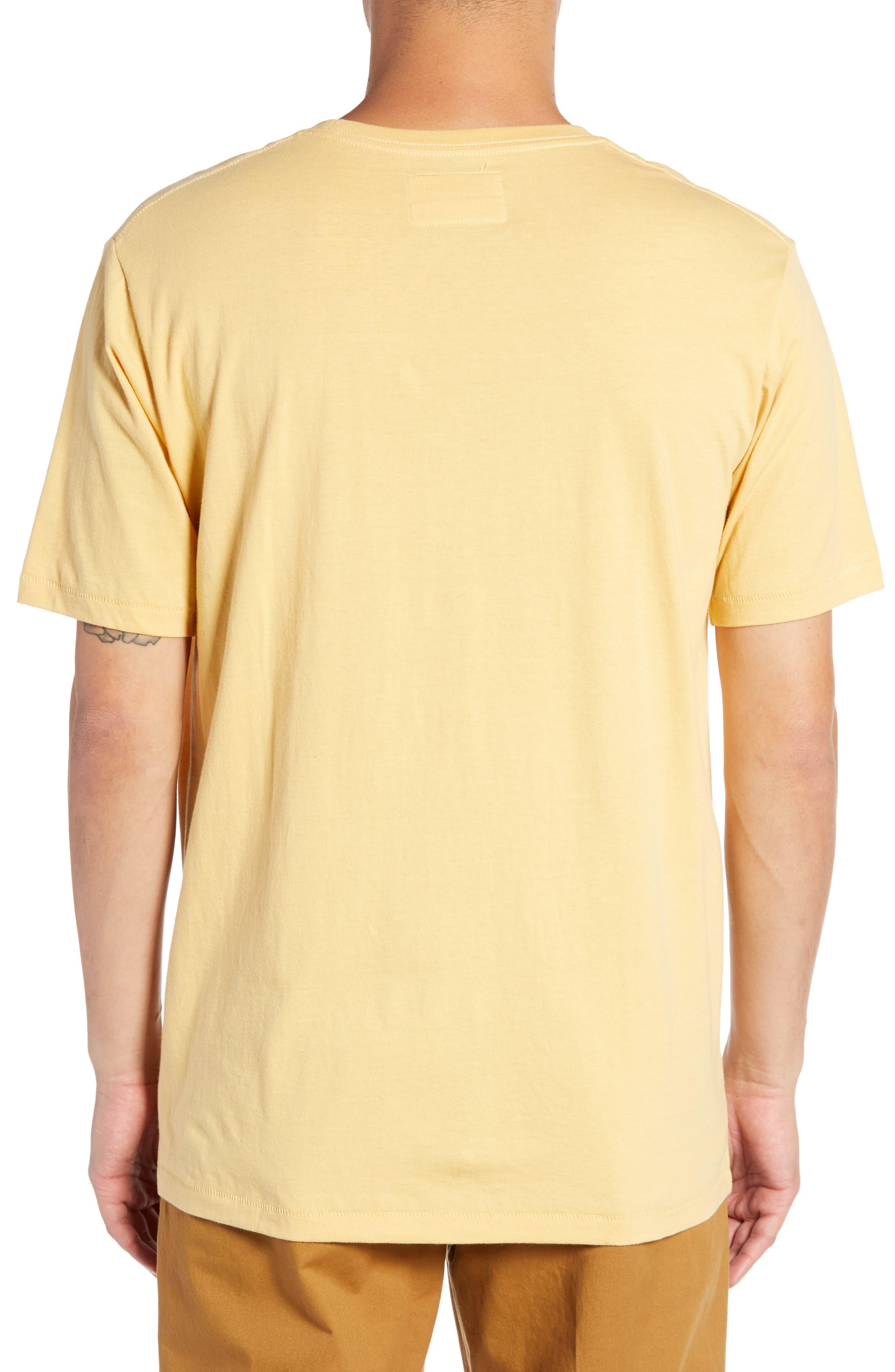 Retro Logo T-Shirt,                             Alternate thumbnail 2, color,                             MUSTARD