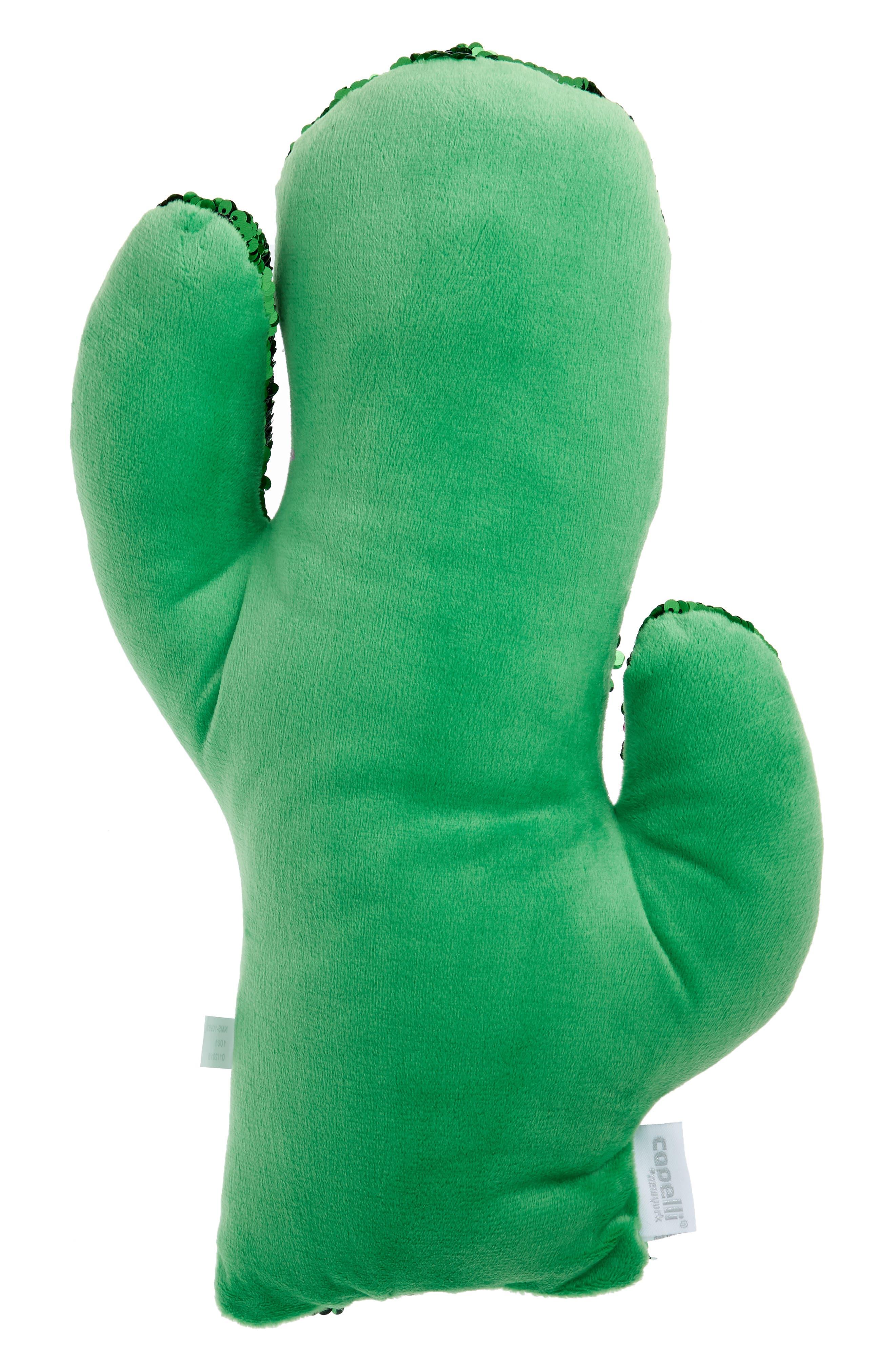 Flip Sequin Cactus Pillow,                             Alternate thumbnail 2, color,                             300