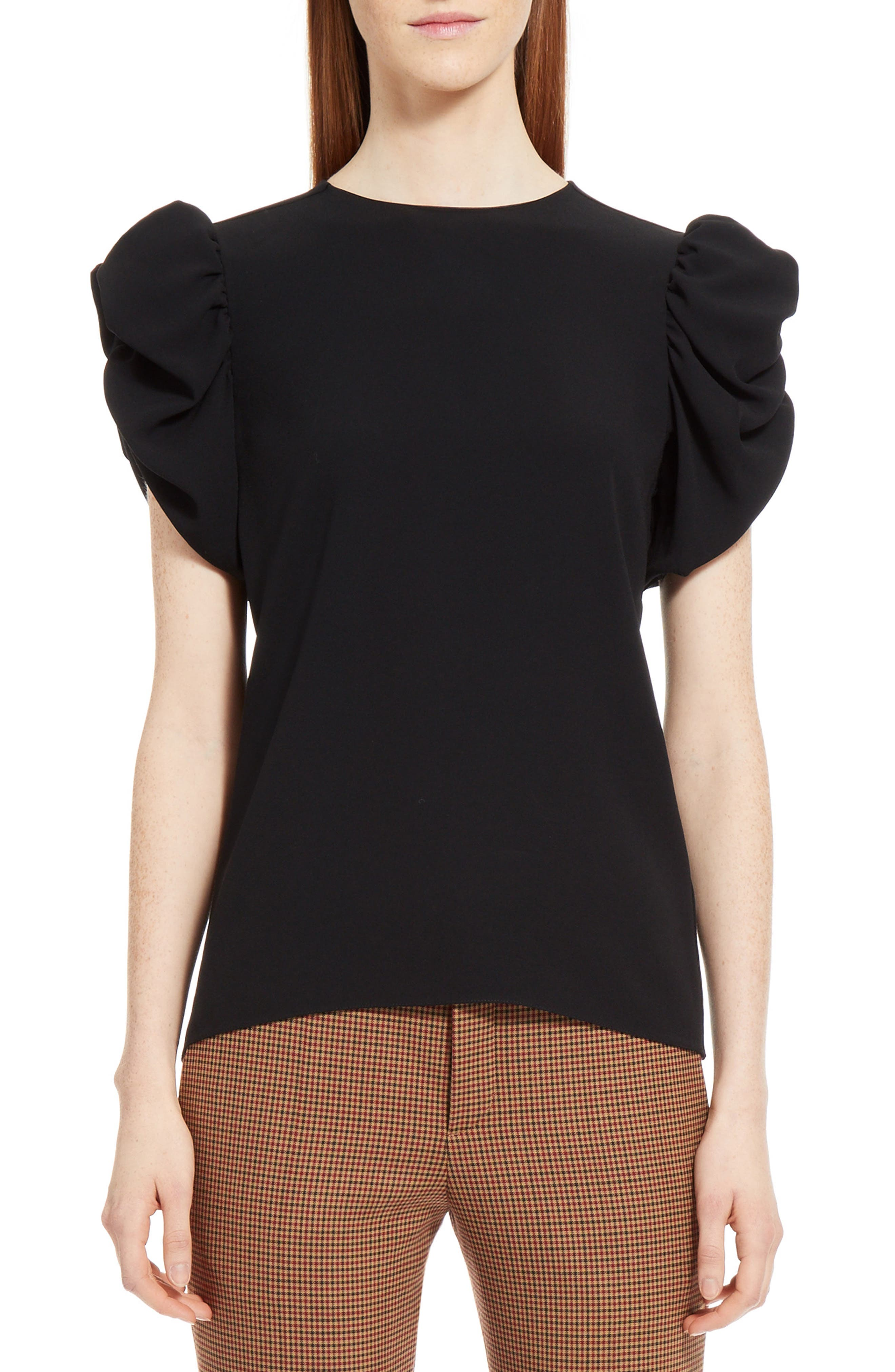 Puff Sleeve Blouse,                         Main,                         color, 001
