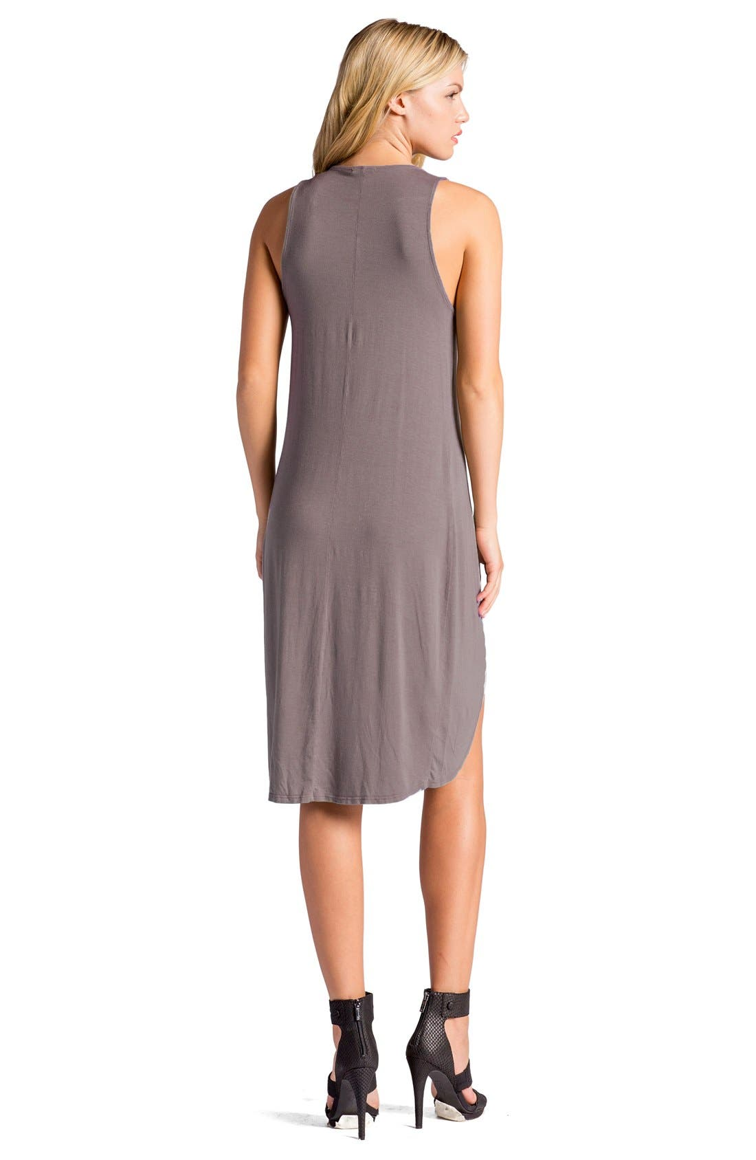 Elba Asymmetrical Hem Sleeveless Jersey Dress,                             Alternate thumbnail 12, color,