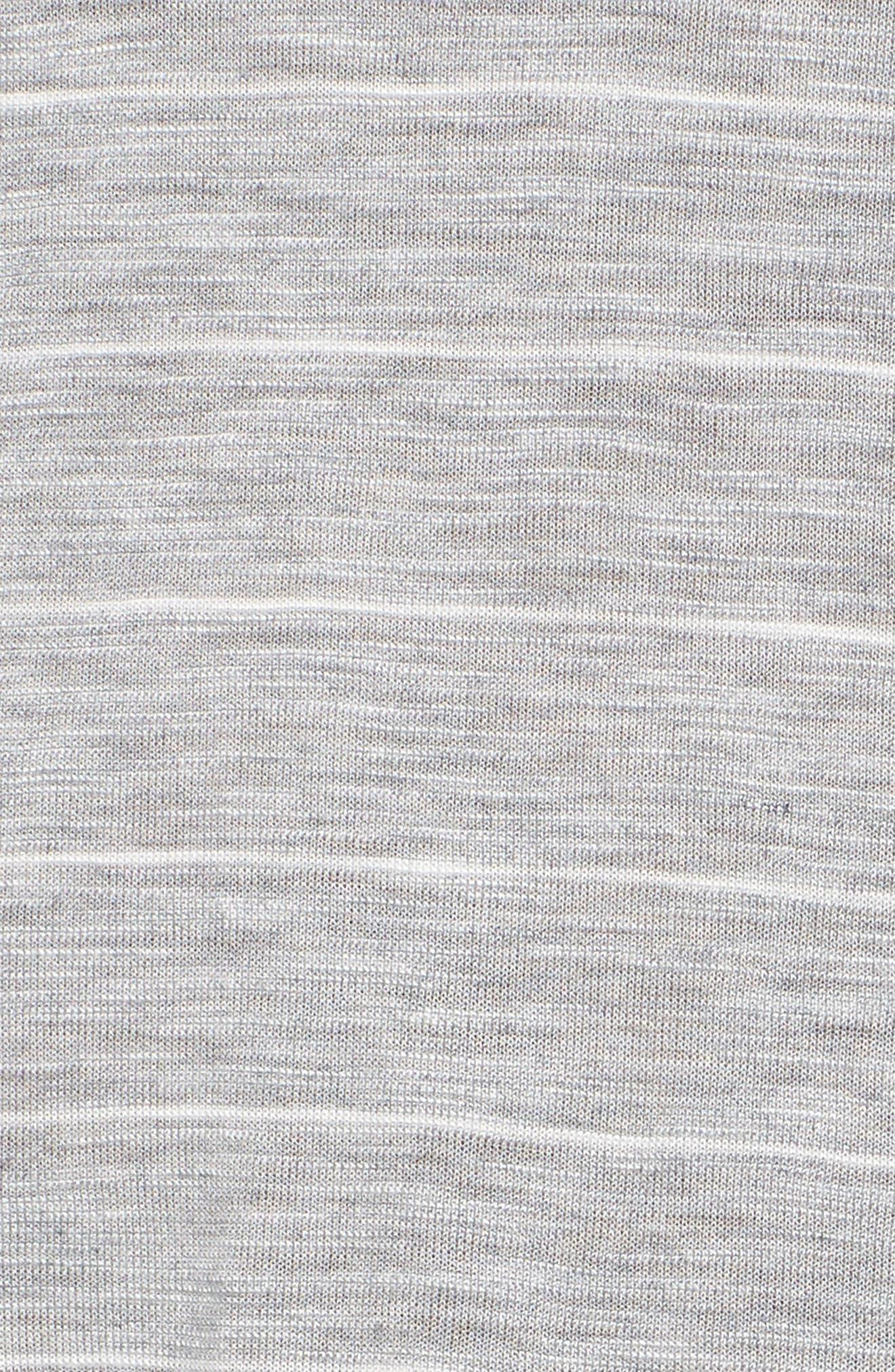 Delicate Stripe T-Shirt Dress,                             Alternate thumbnail 5, color,                             050