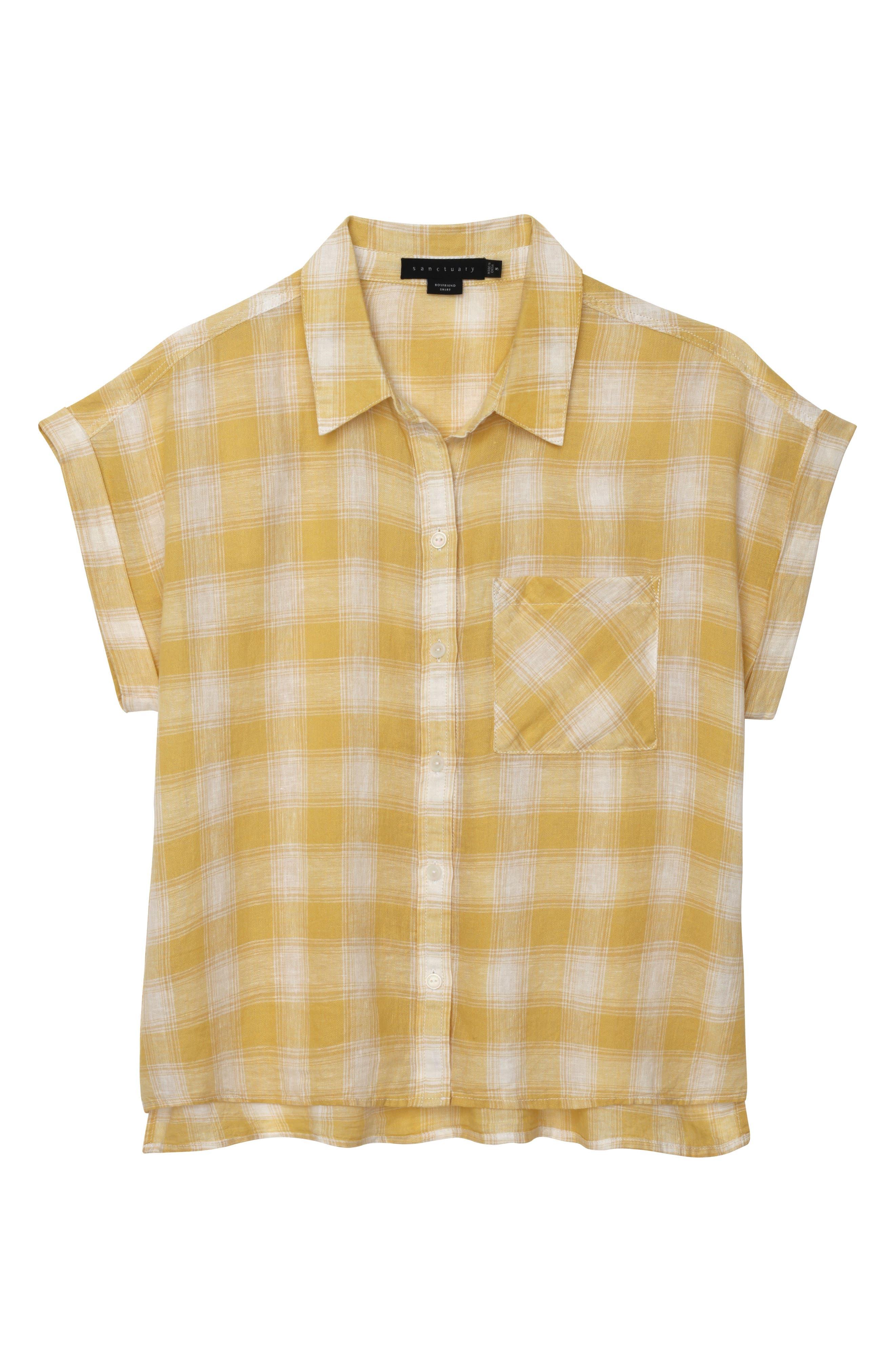 Mod Short Sleeve Boyfriend Shirt,                             Alternate thumbnail 25, color,