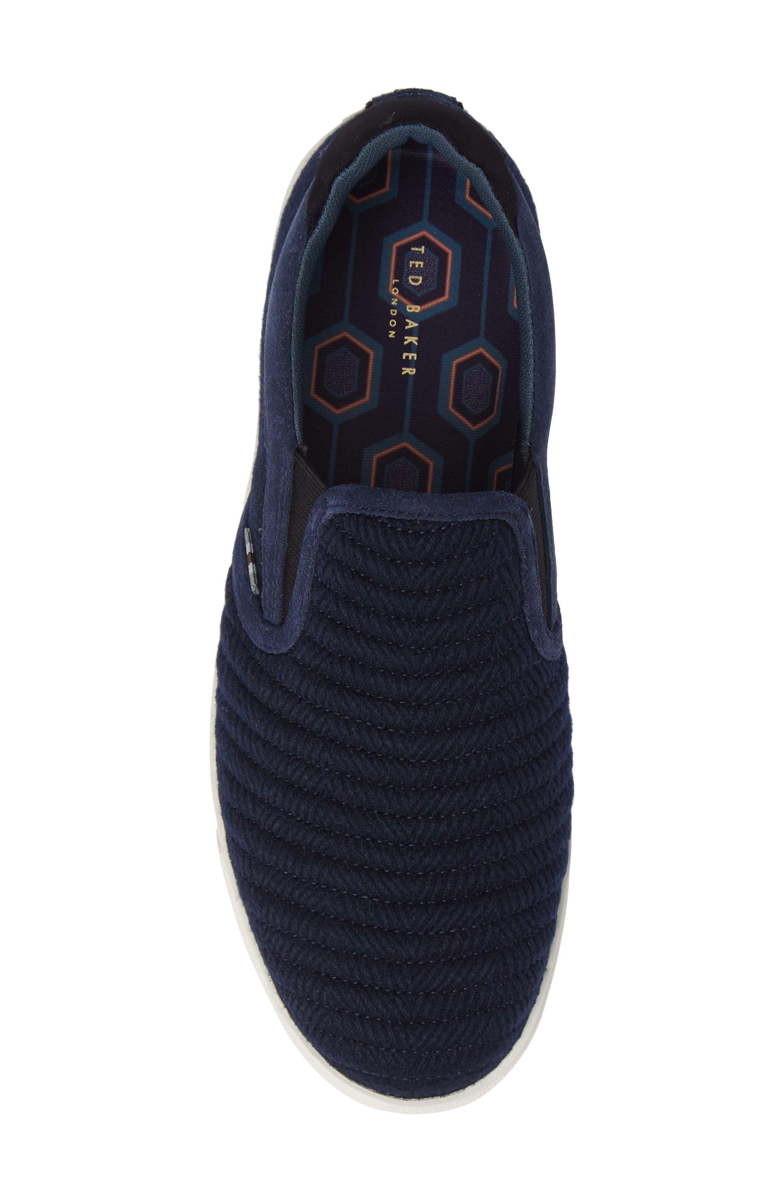Daniam Slip-On Sneaker,                             Alternate thumbnail 5, color,                             DARK BLUE WOOL