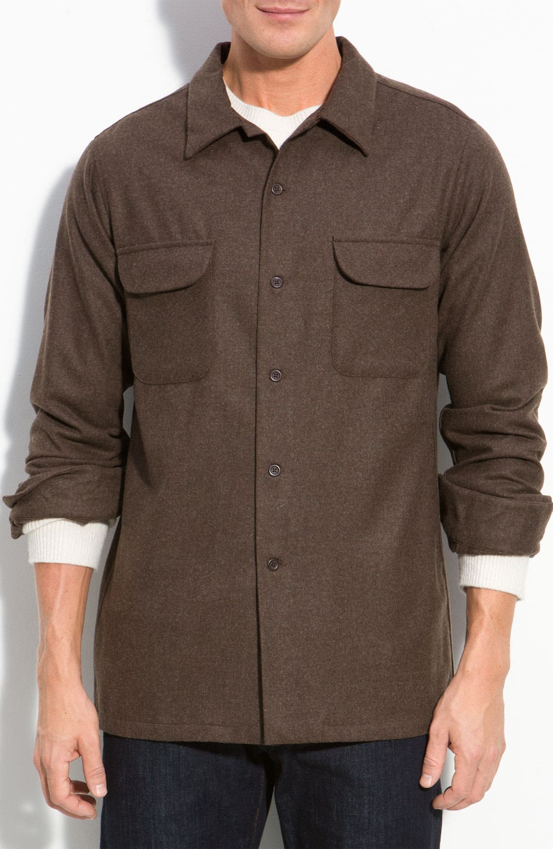 Wool Rider Shirt, Main, color, 210