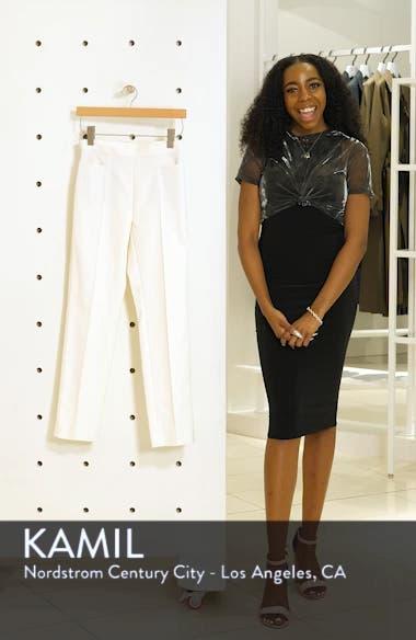 'Franca' Techno Cotton Blend Ankle Pants, sales video thumbnail