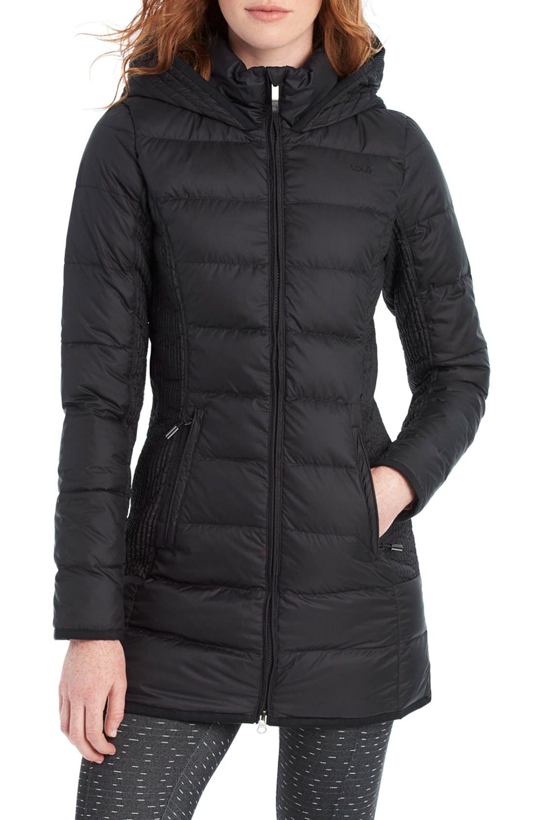 LOLE,                             'Gisele' Water Resistant Quilted Jacket,                             Main thumbnail 1, color,                             001