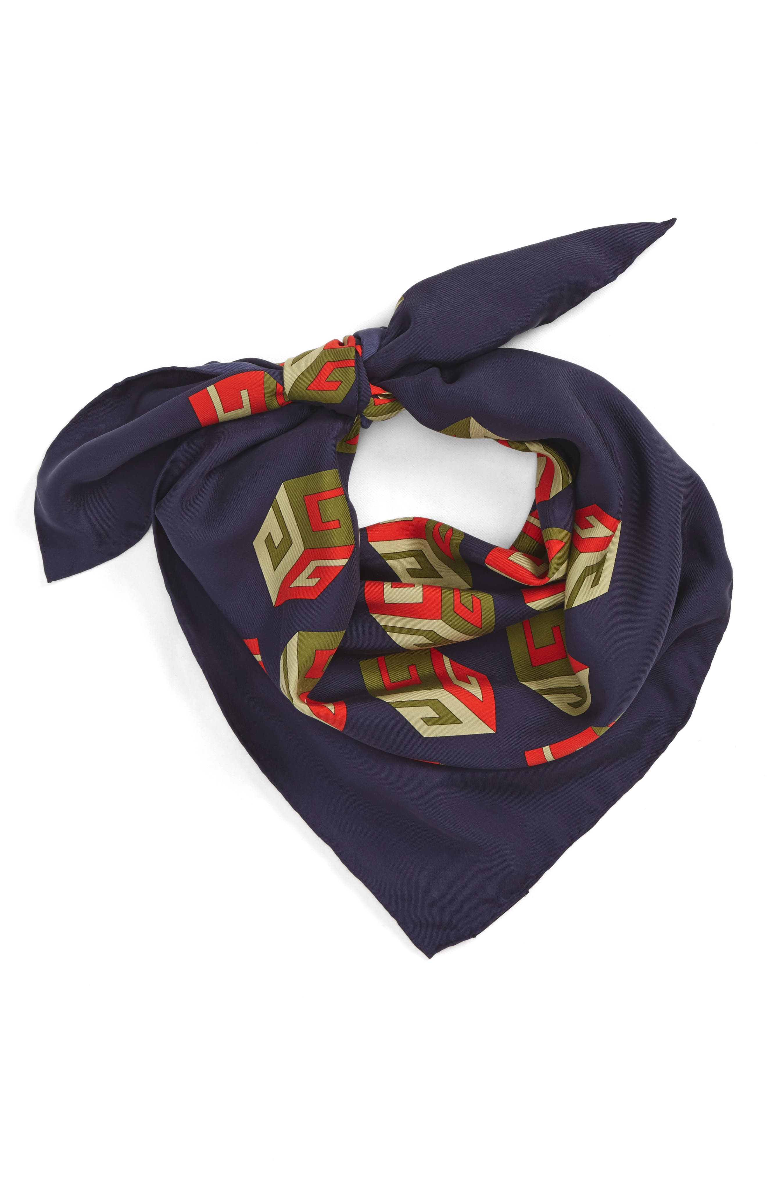 Cubo Foulard Silk Square Scarf,                         Main,                         color, 400
