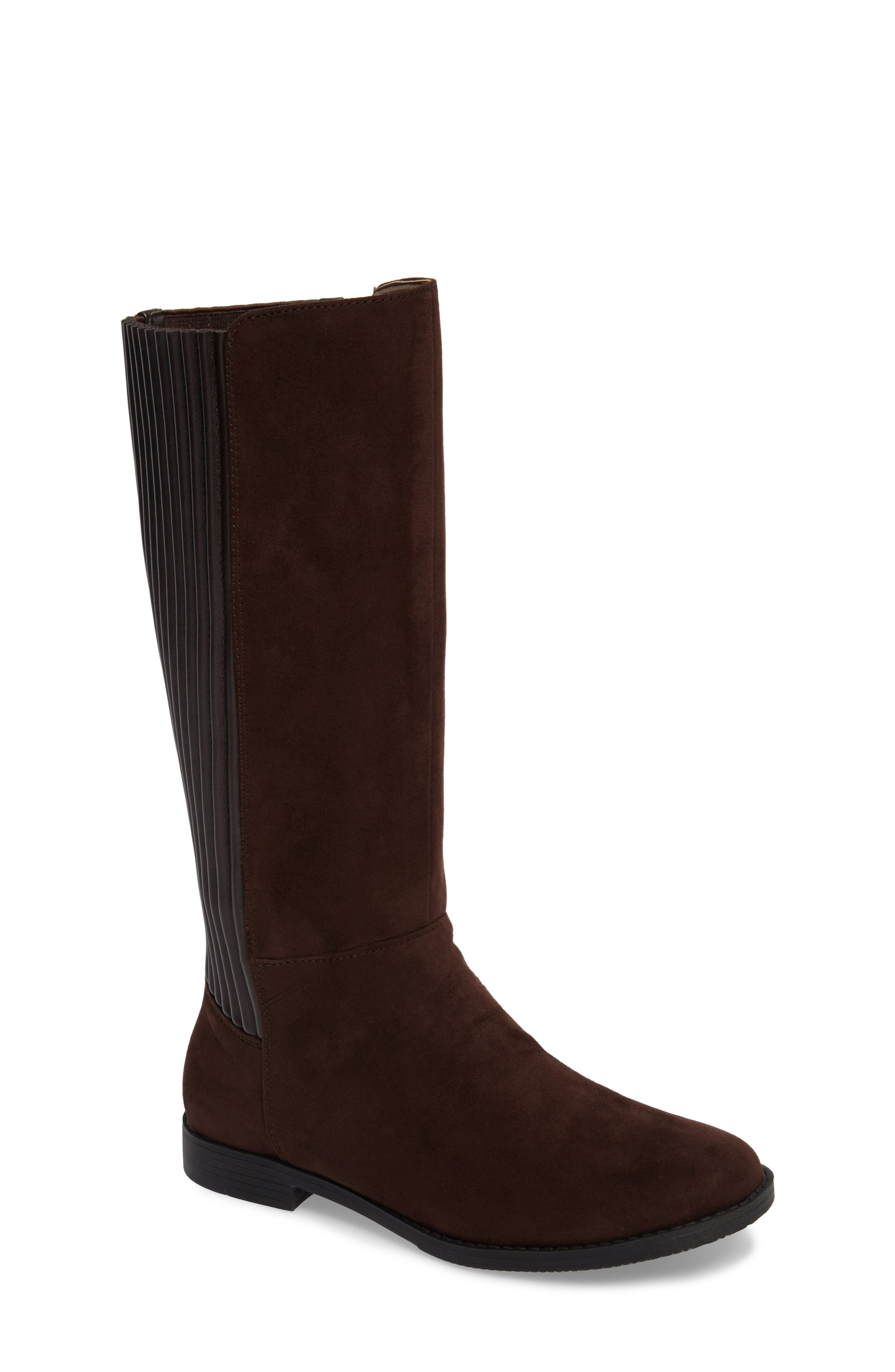 Kennedy Pleated Riding Boot,                             Main thumbnail 2, color,