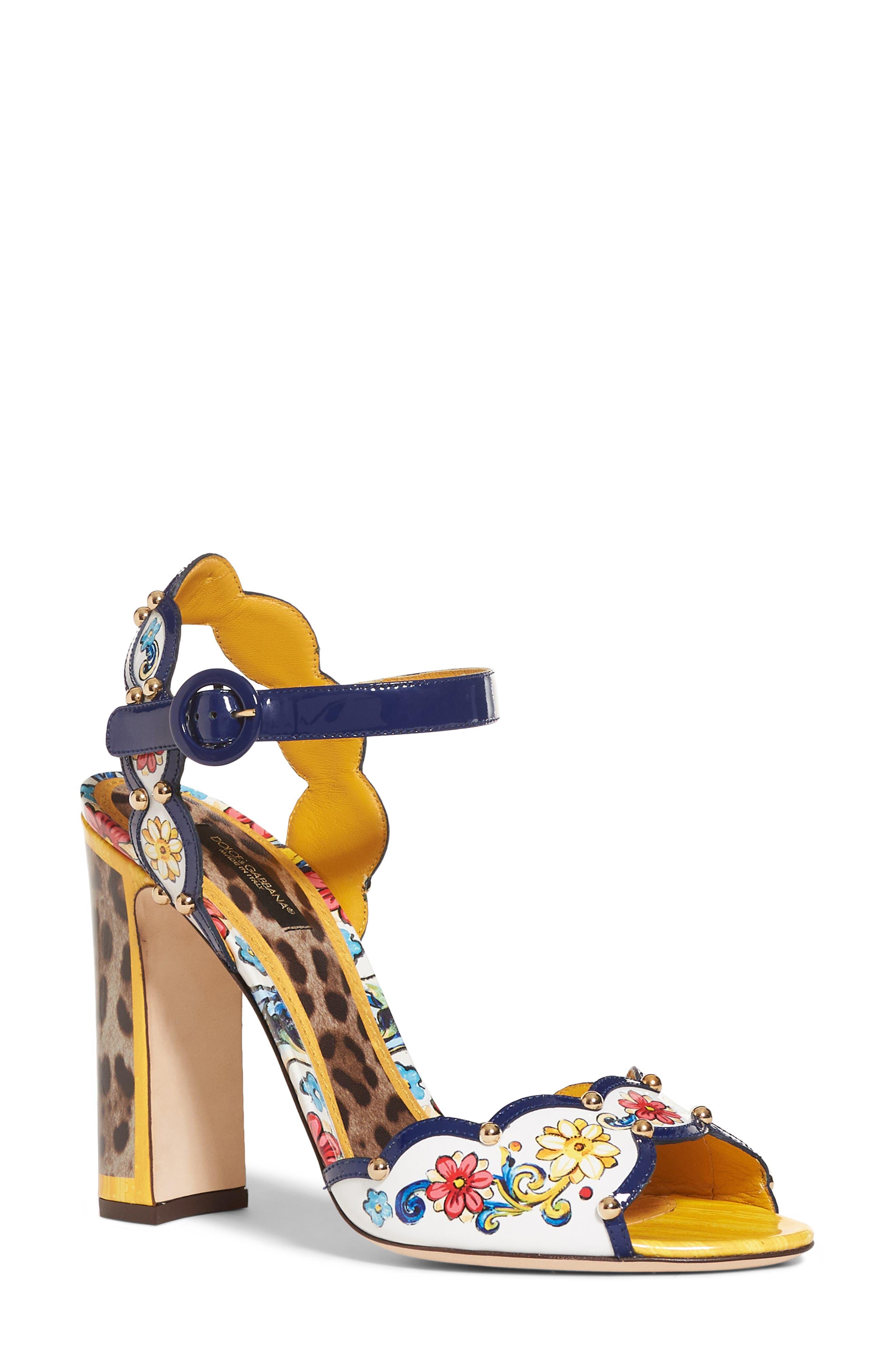 Keira Majolica & Leopard Print Sandal,                         Main,                         color,