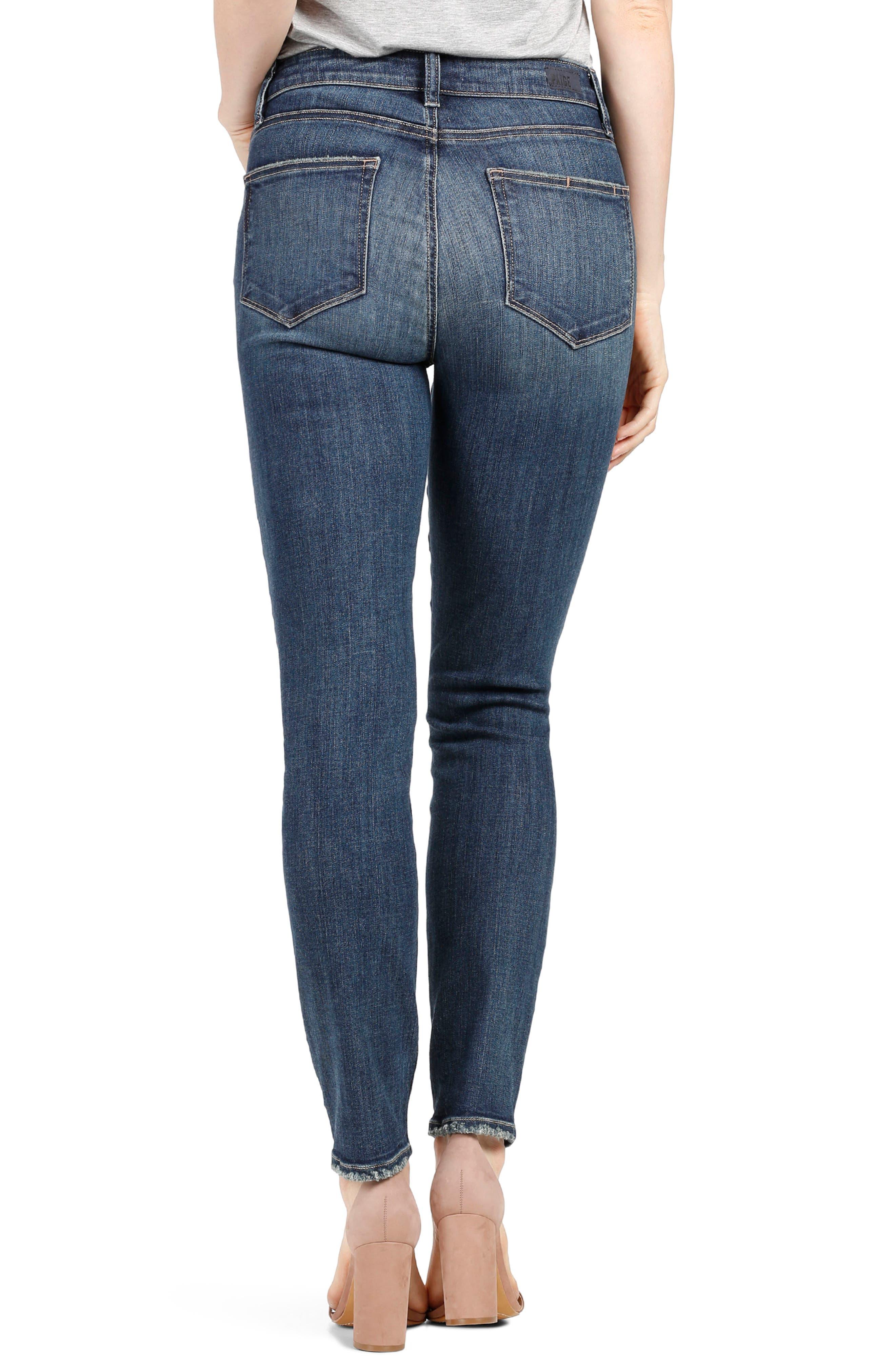 Transcend Vintage - Hoxton High Waist Ankle Skinny Jeans,                             Alternate thumbnail 2, color,                             400
