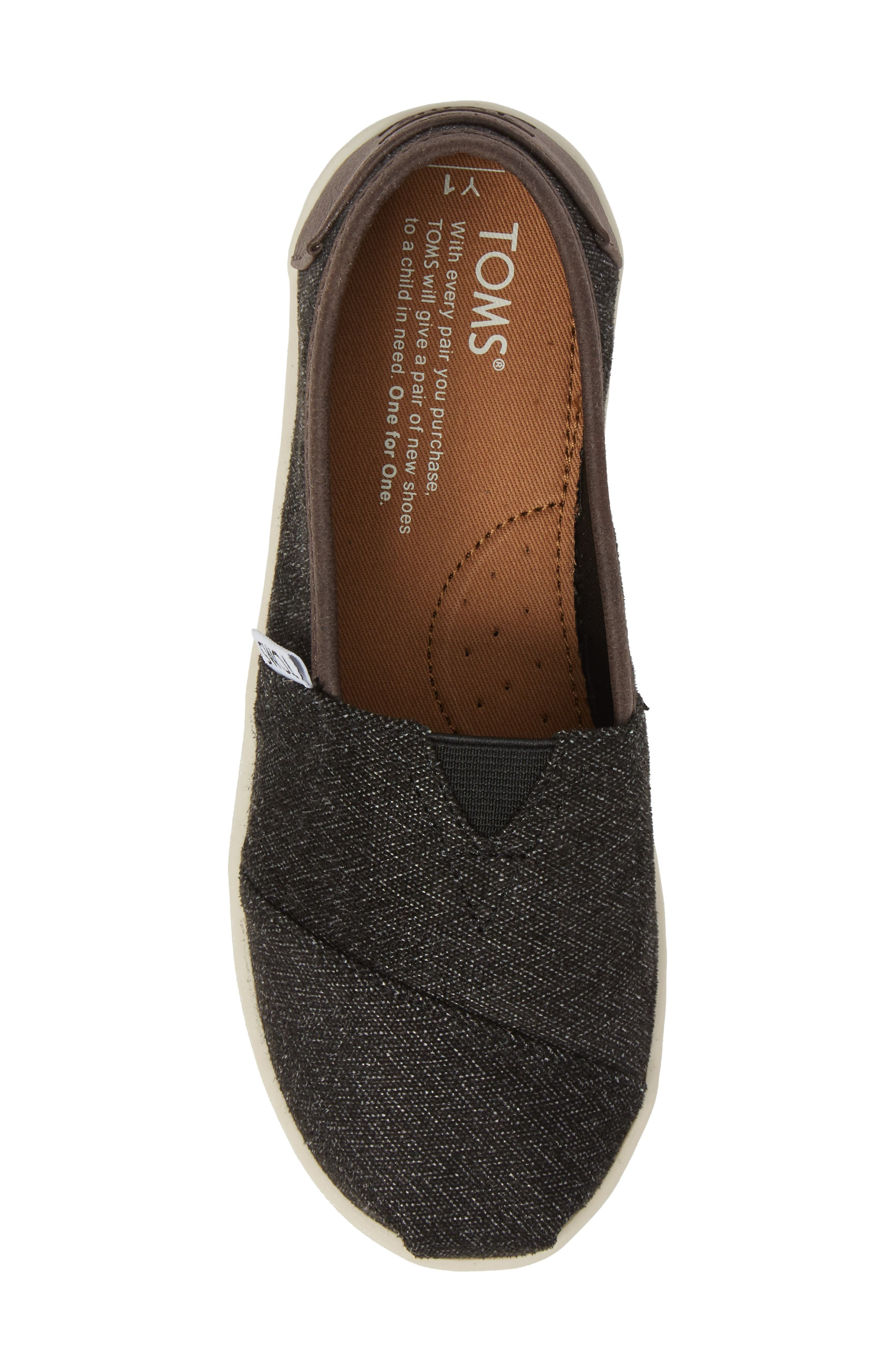 Herringbone Slip-On Sneaker,                             Alternate thumbnail 5, color,                             021