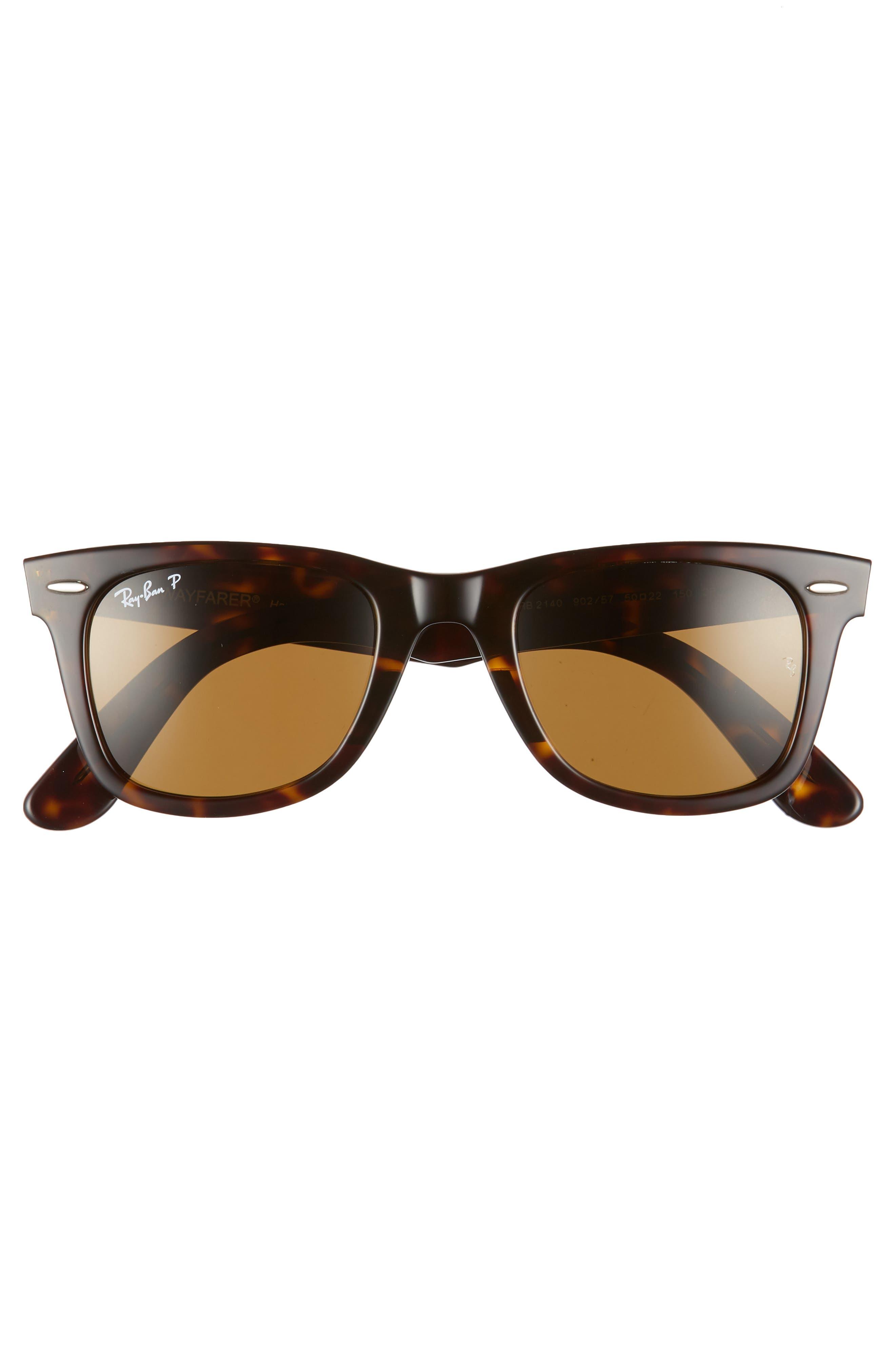 Standard Classic Wayfarer 50mm Polarized Sunglasses,                             Alternate thumbnail 3, color,                             205