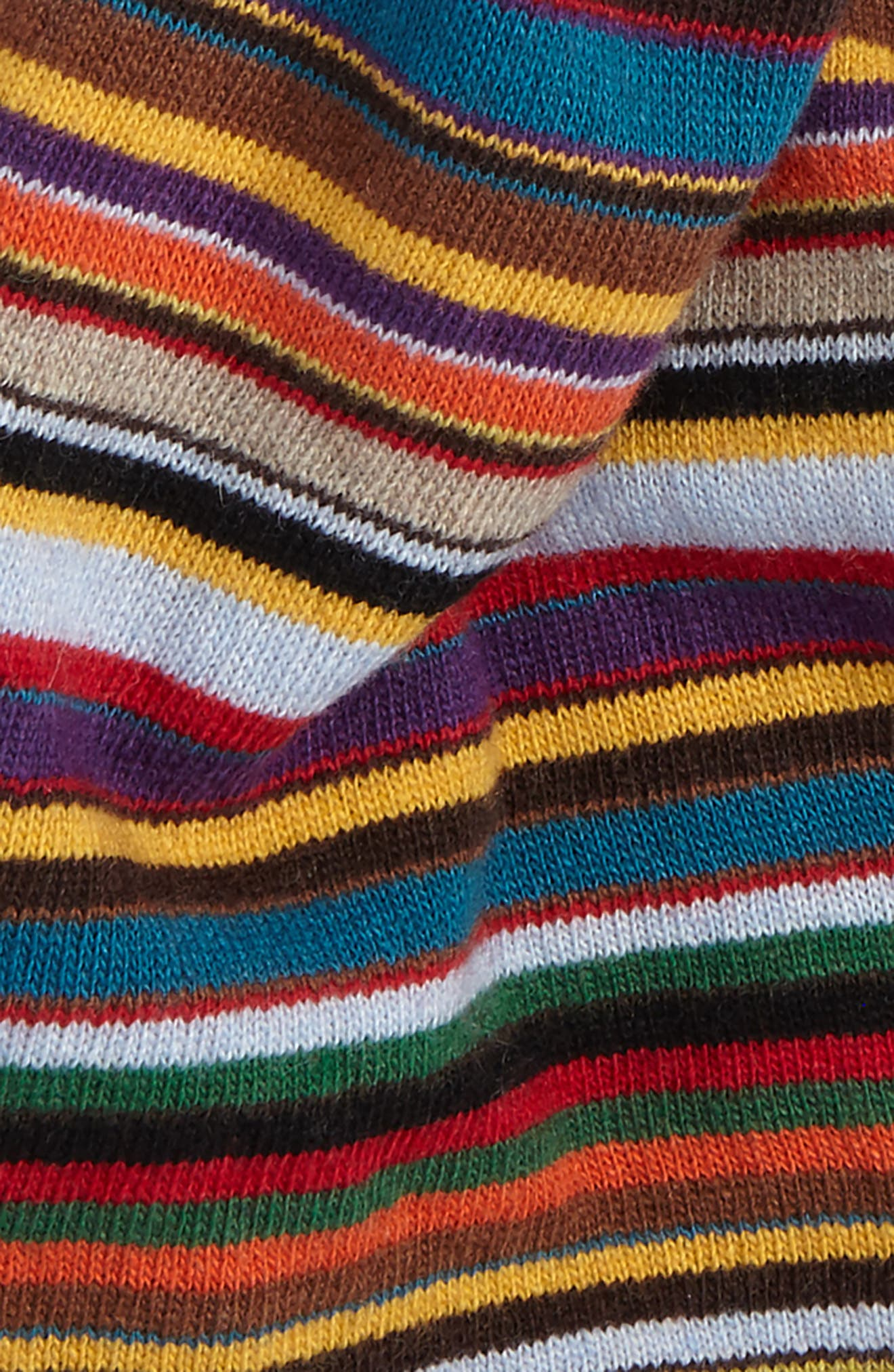 Multistripe Knit Scarf,                             Alternate thumbnail 3, color,                             001