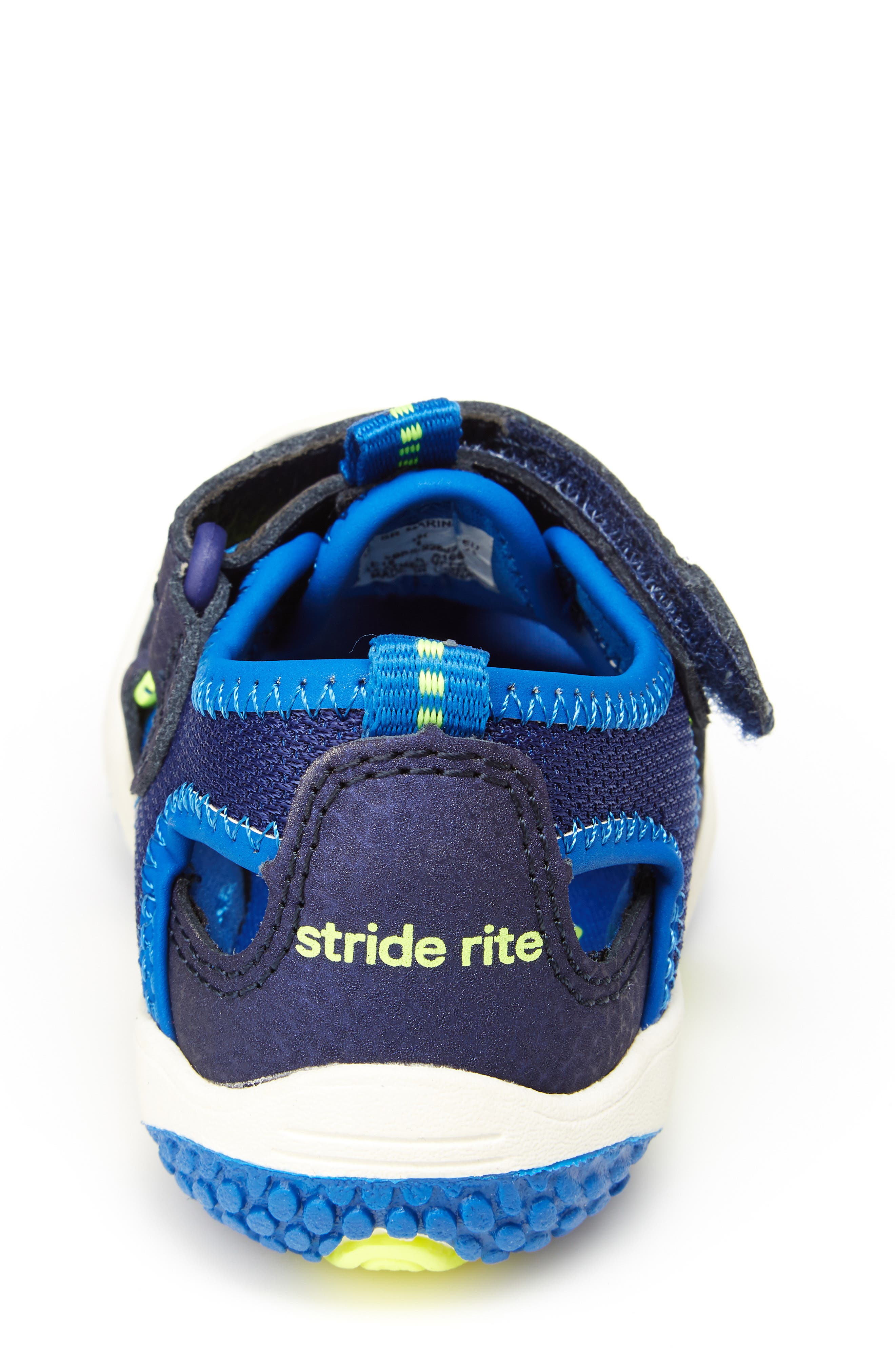 STRIDE RITE,                             Marina Water Sandal,                             Alternate thumbnail 6, color,                             ELECTRIC BLUE LEATHER/ TEXTILE