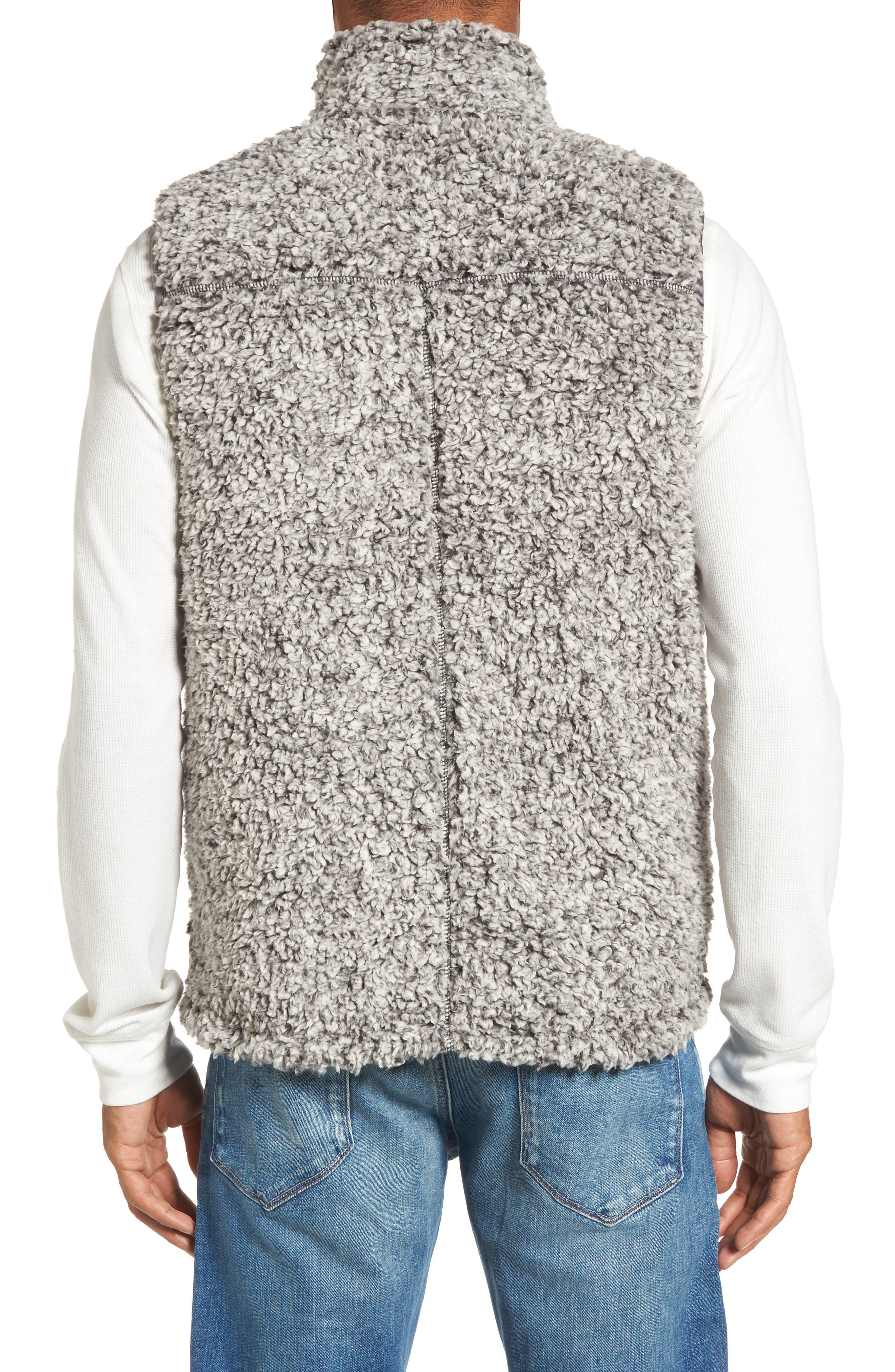 Double Up Frosty Tipped Faux Fur Vest,                             Alternate thumbnail 2, color,                             020
