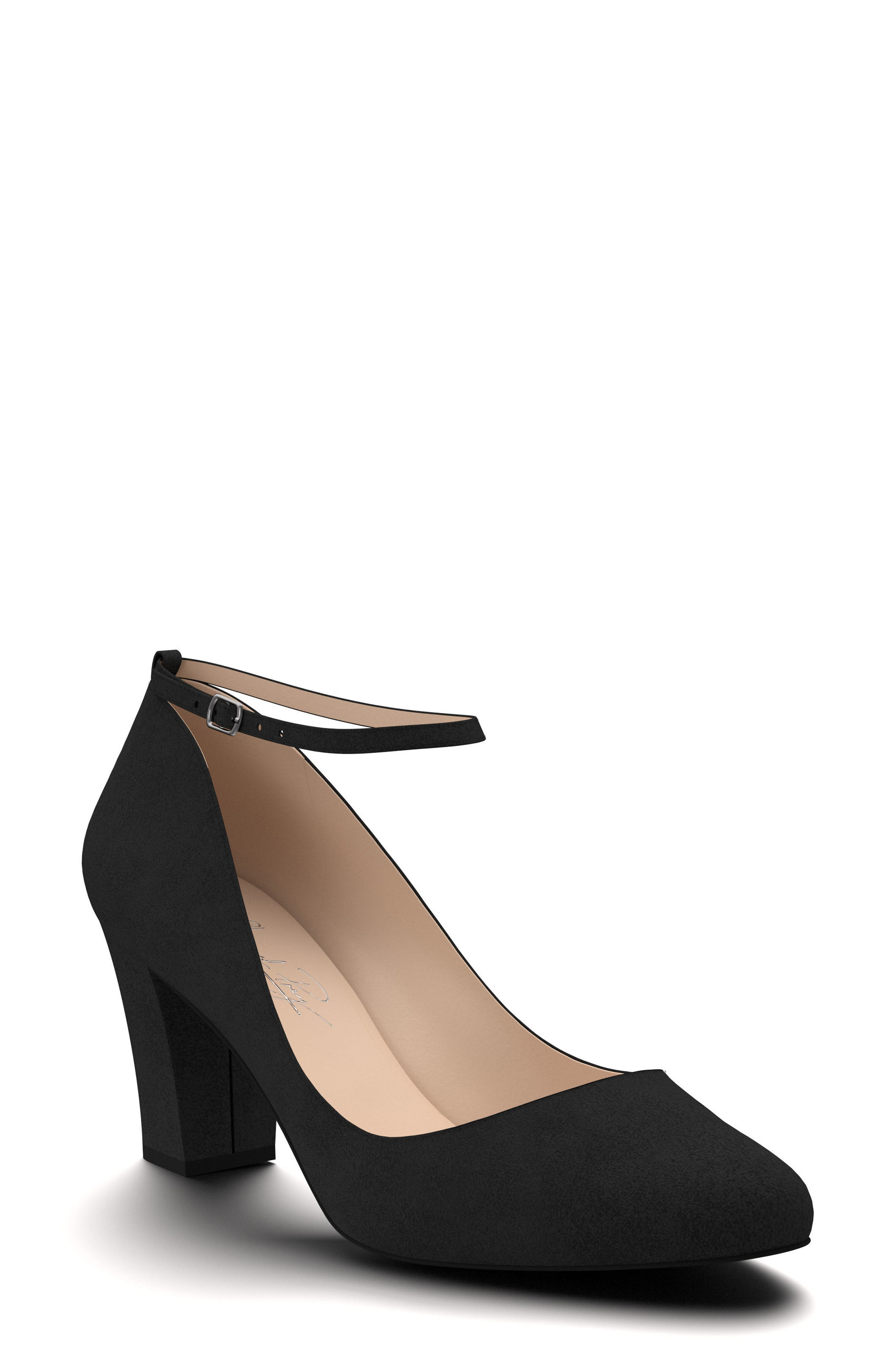 Block Heel Pump,                         Main,                         color, 001