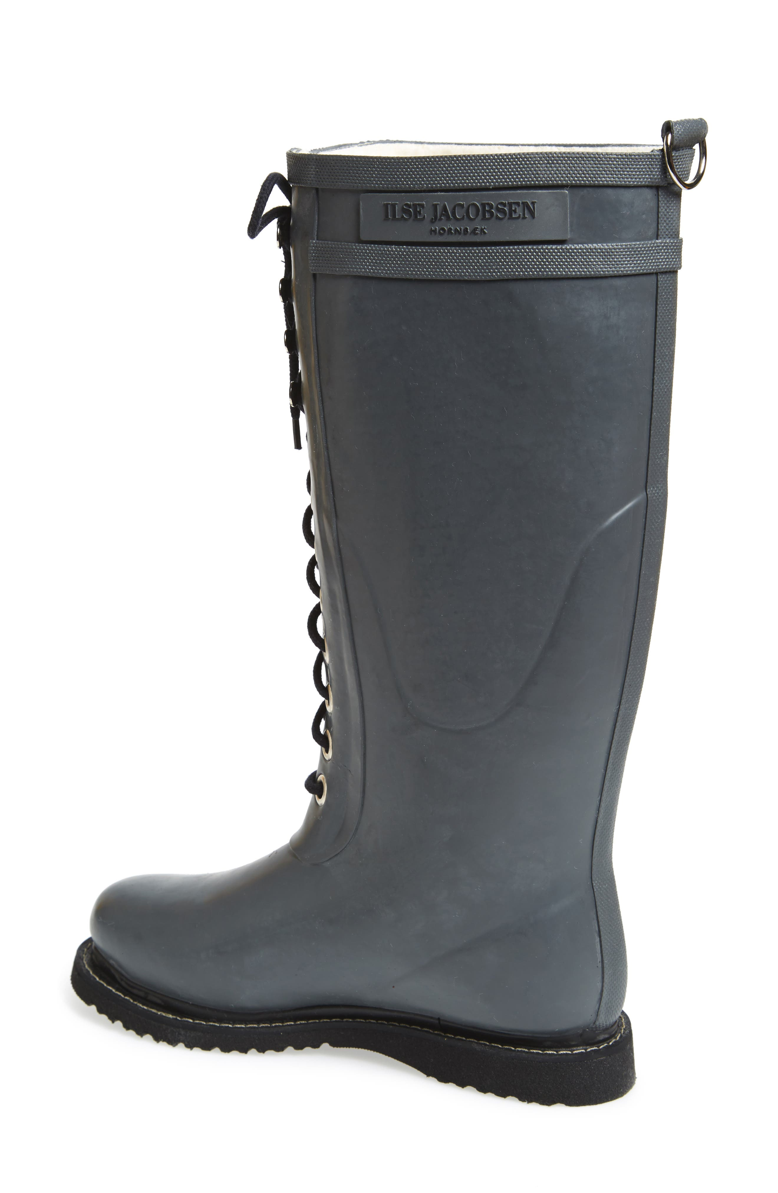 Rubber Boot,                             Alternate thumbnail 4, color,                             GREY
