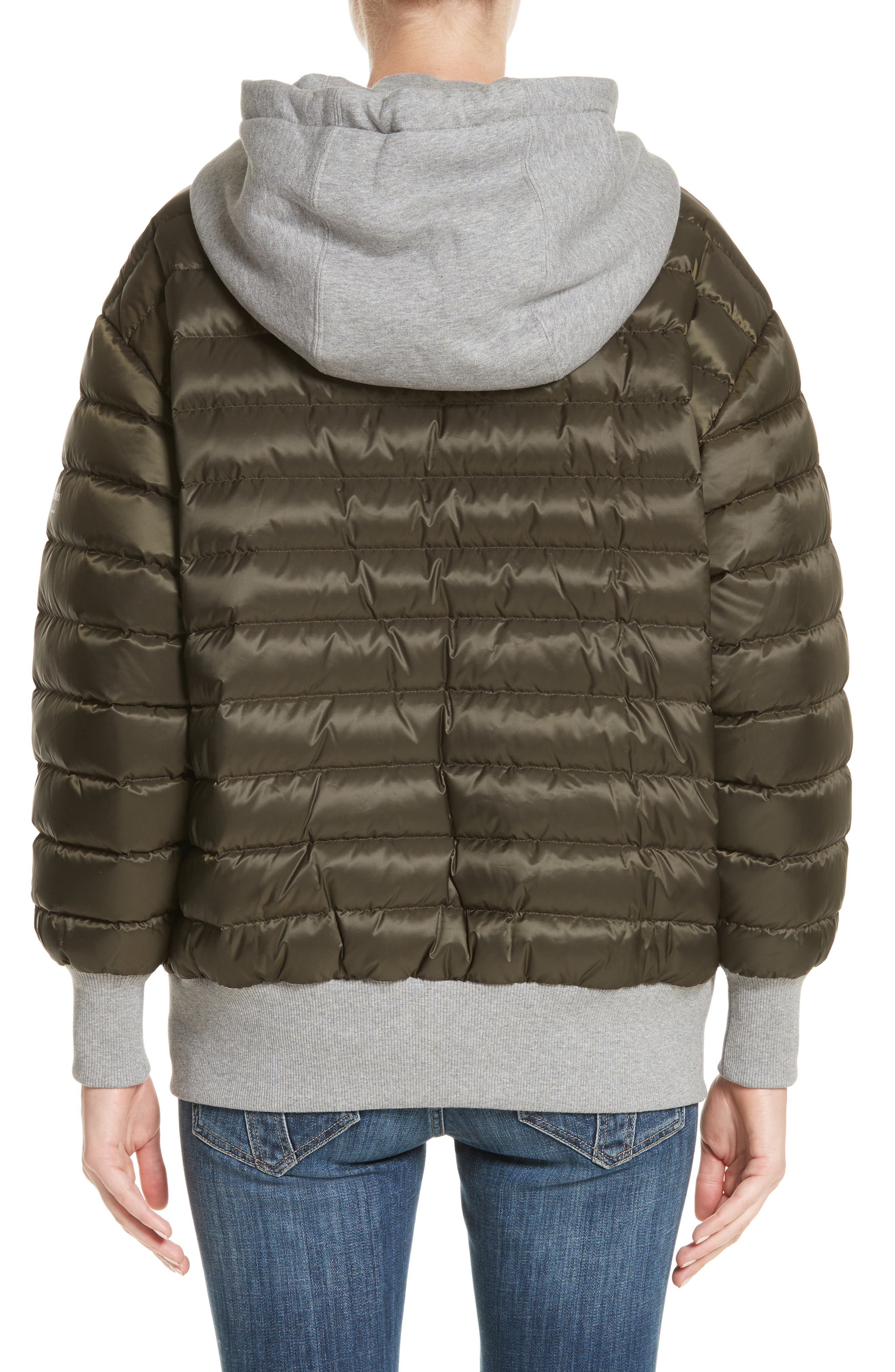Langleigh Reversible Down Hooded Bomber Jacket,                             Alternate thumbnail 3, color,