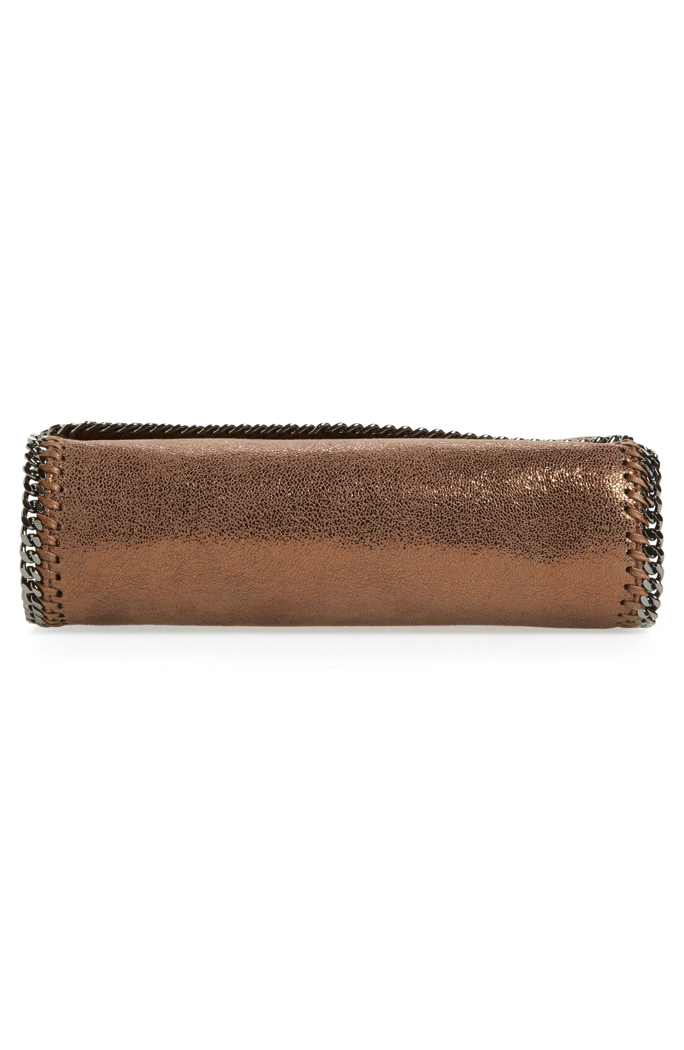 Falabella Metallic Faux Leather Convertible Shoulder Bag,                             Alternate thumbnail 6, color,                             200
