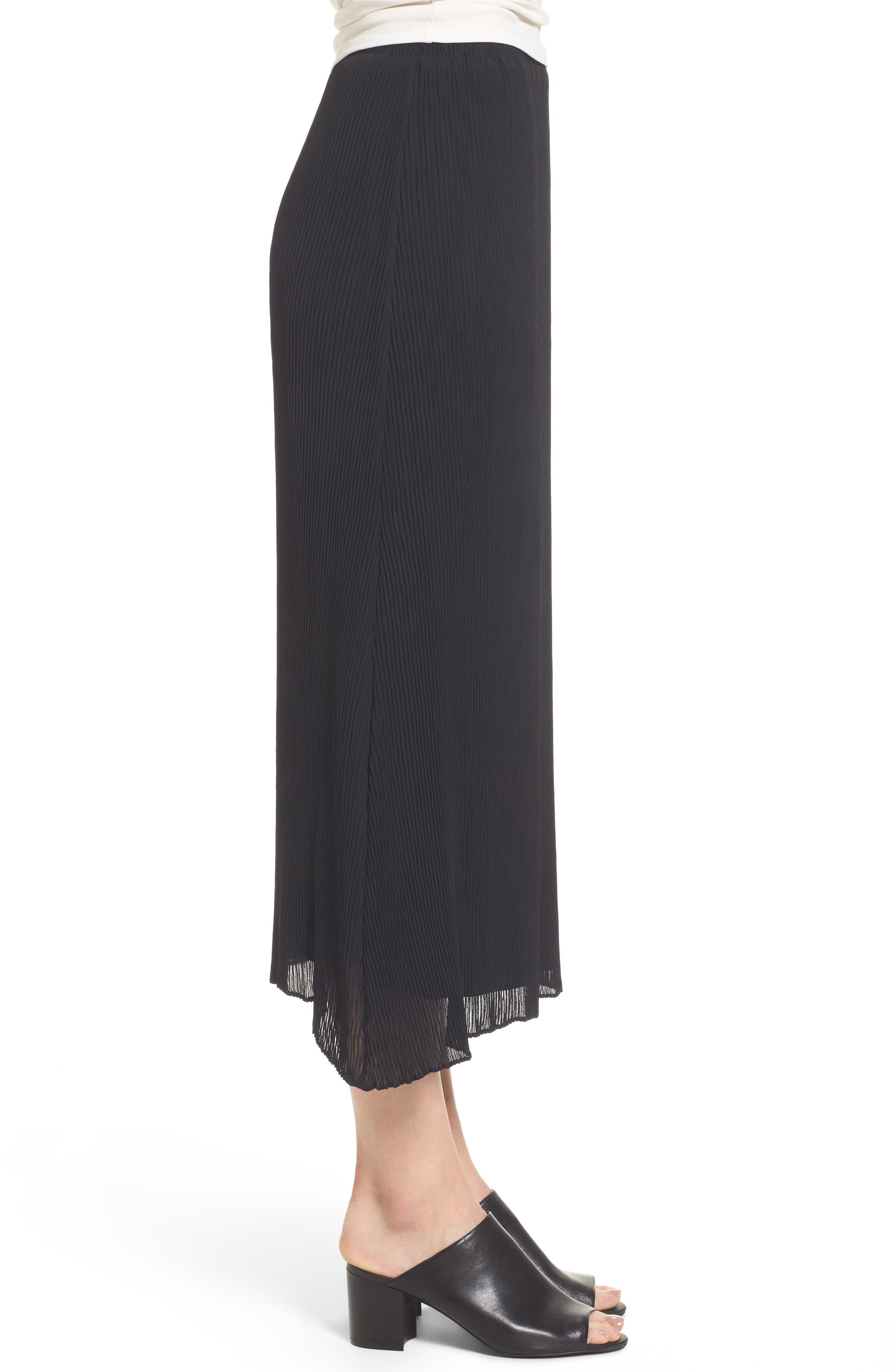 Pleated Midi Skirt,                             Alternate thumbnail 3, color,                             001