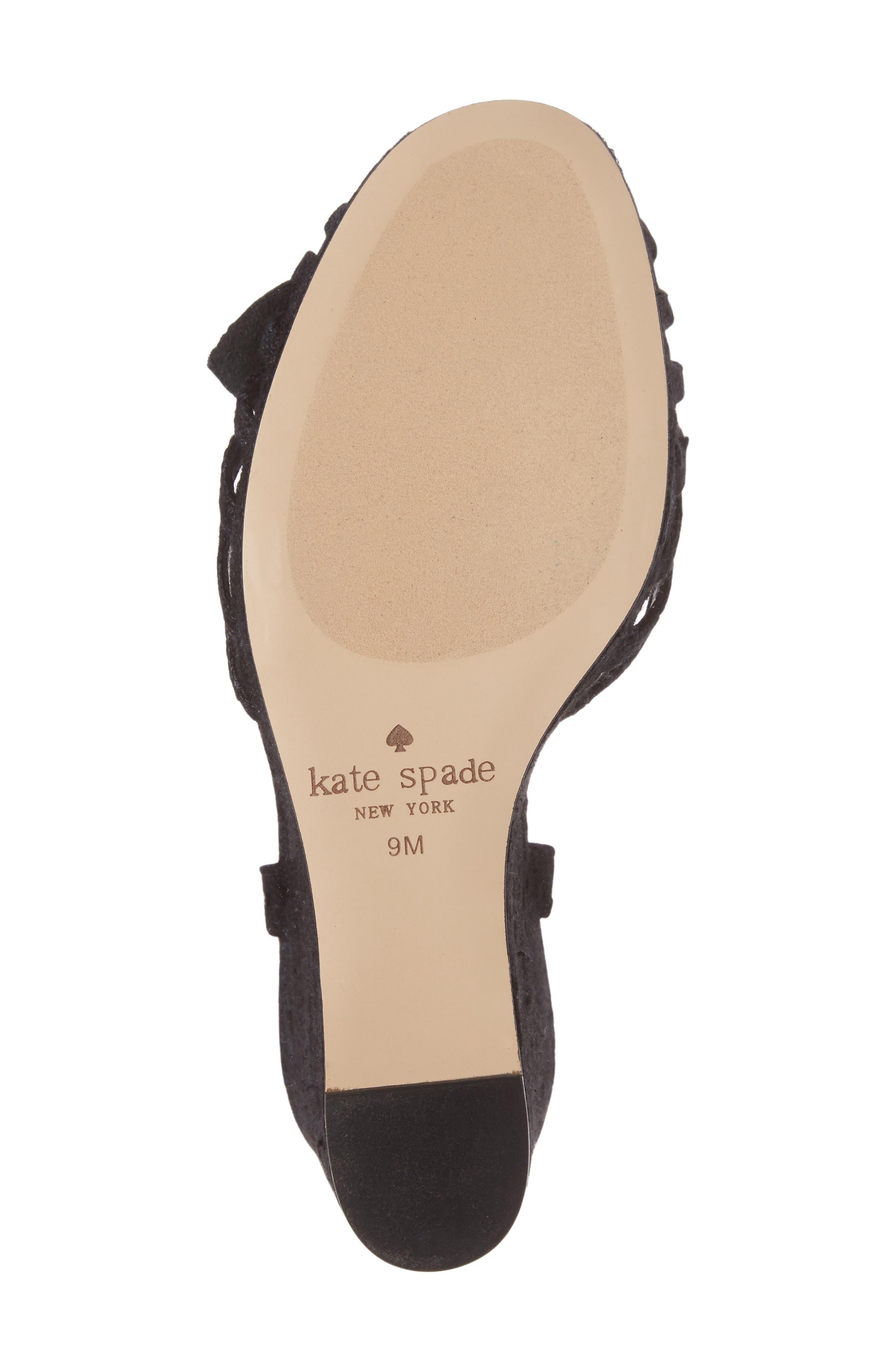 beekman strappy wedge sandal,                             Alternate thumbnail 6, color,                             001