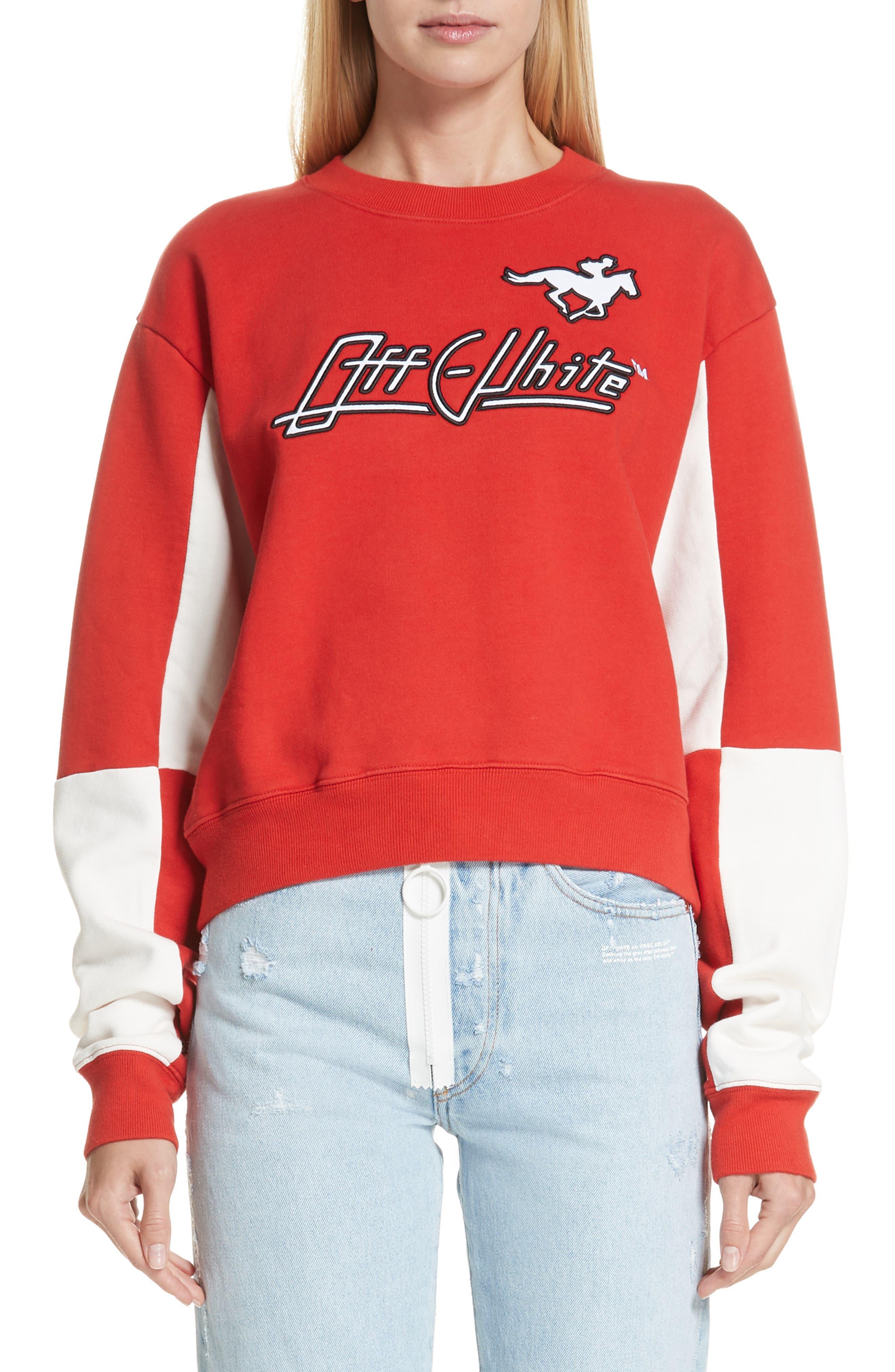 Jockey Checkerboard Crewneck Sweatshirt,                         Main,                         color, 600