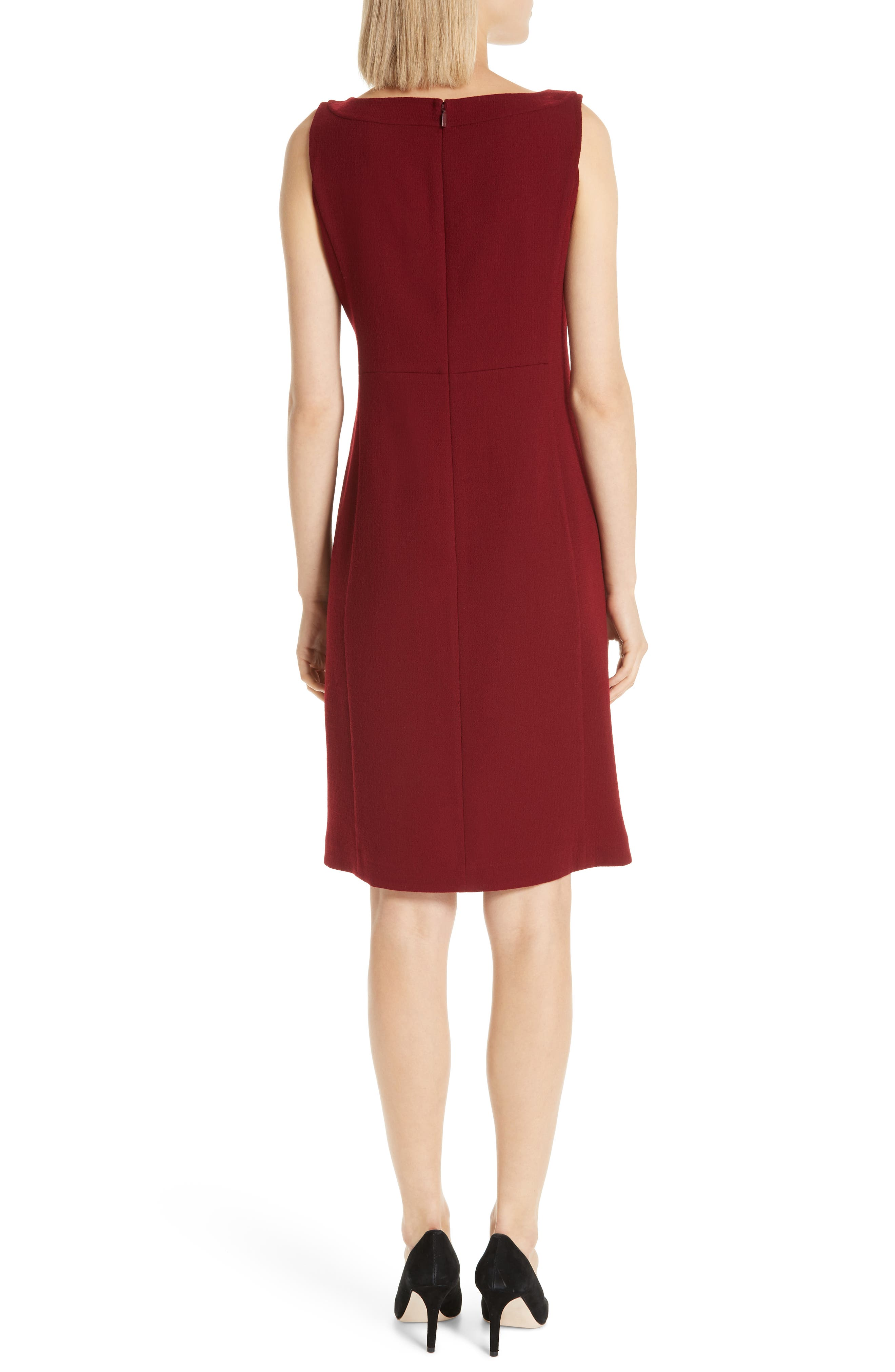 Paxton Sheath Dress,                             Alternate thumbnail 2, color,                             SCARLET