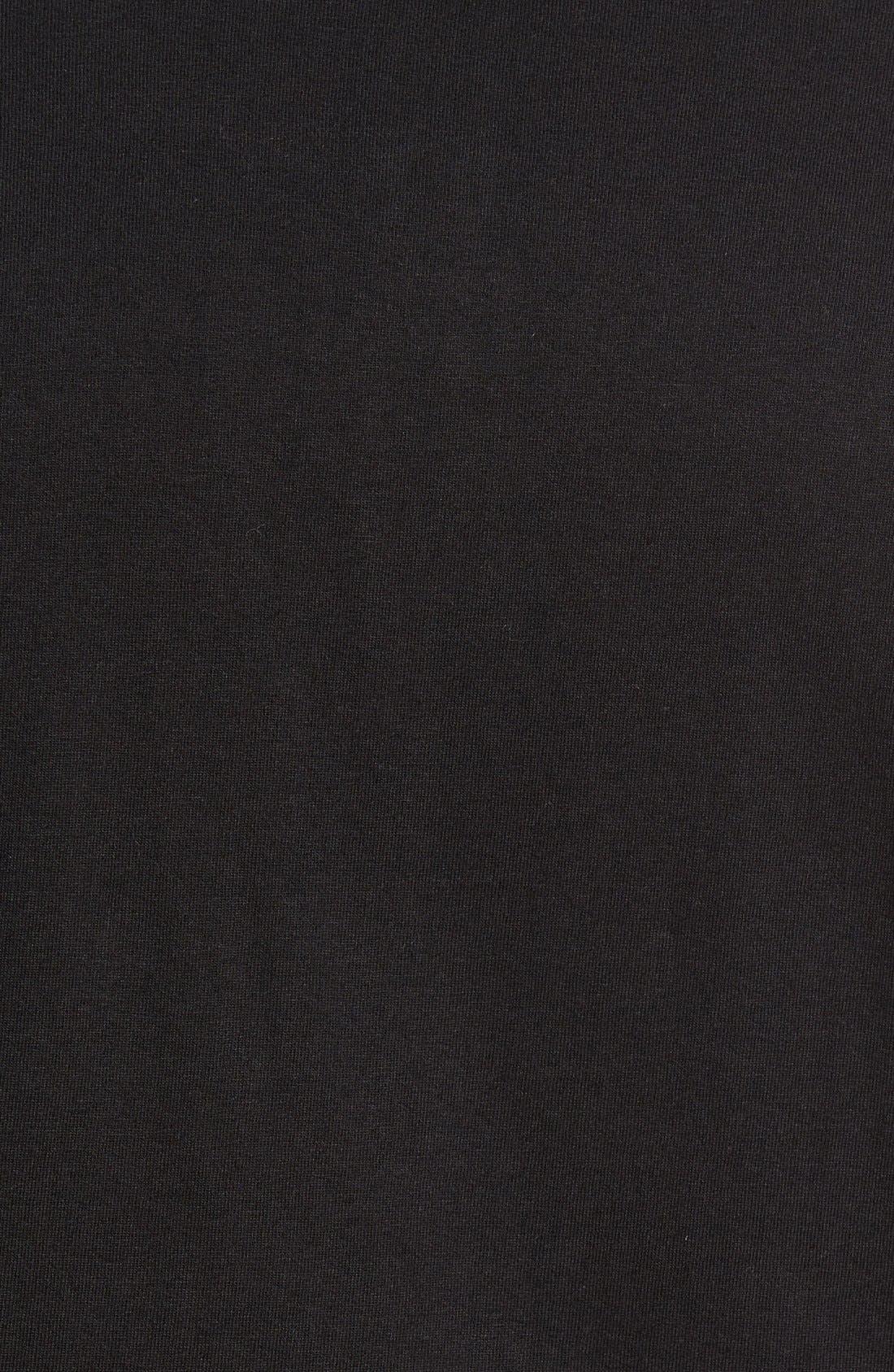 'Harper' Short Sleeve Pocket Henley T-Shirt,                             Alternate thumbnail 5, color,                             001