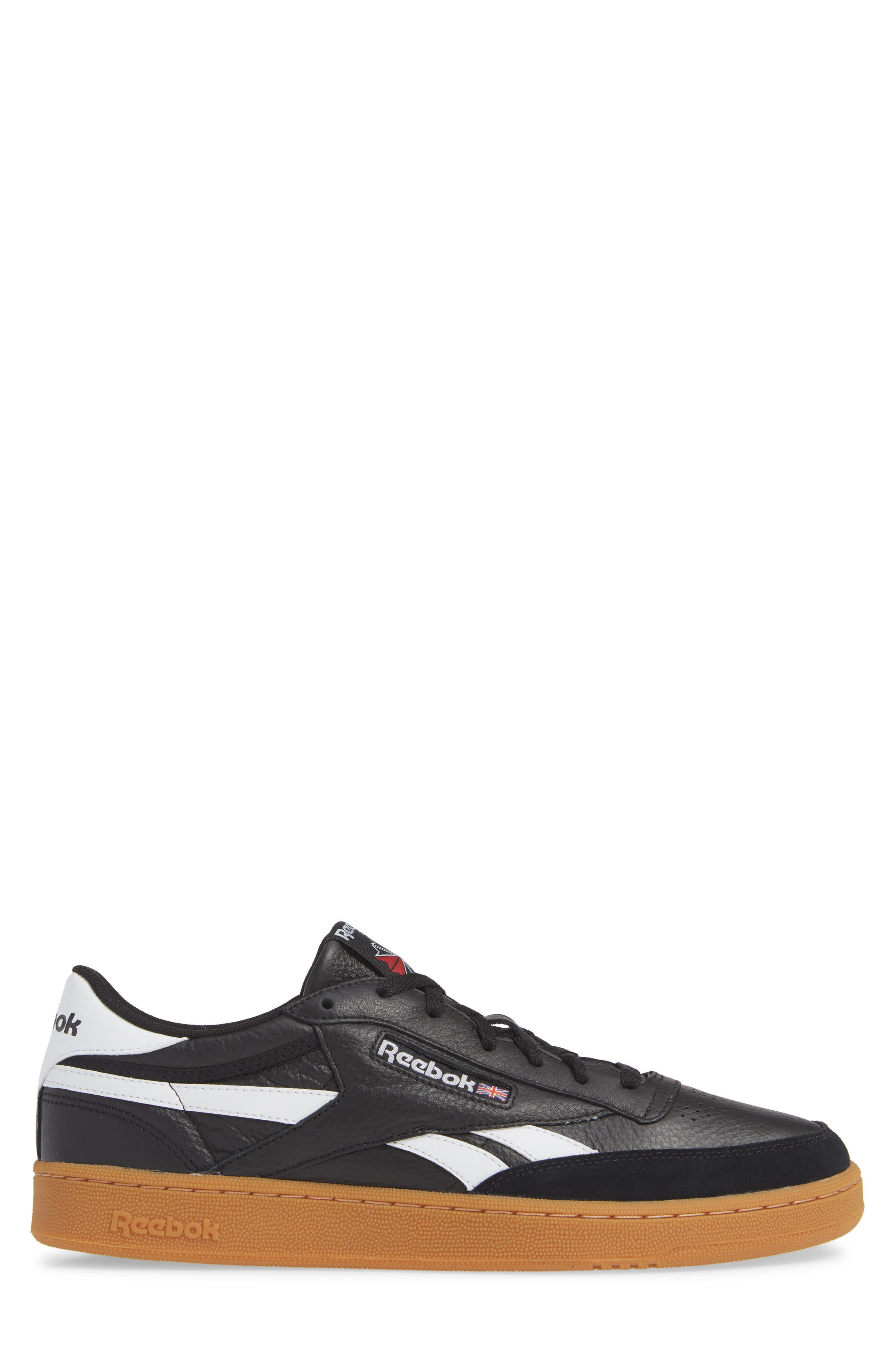 Revenge Plus Sneaker,                             Alternate thumbnail 3, color,                             BLACK/ WHITE/ GUM