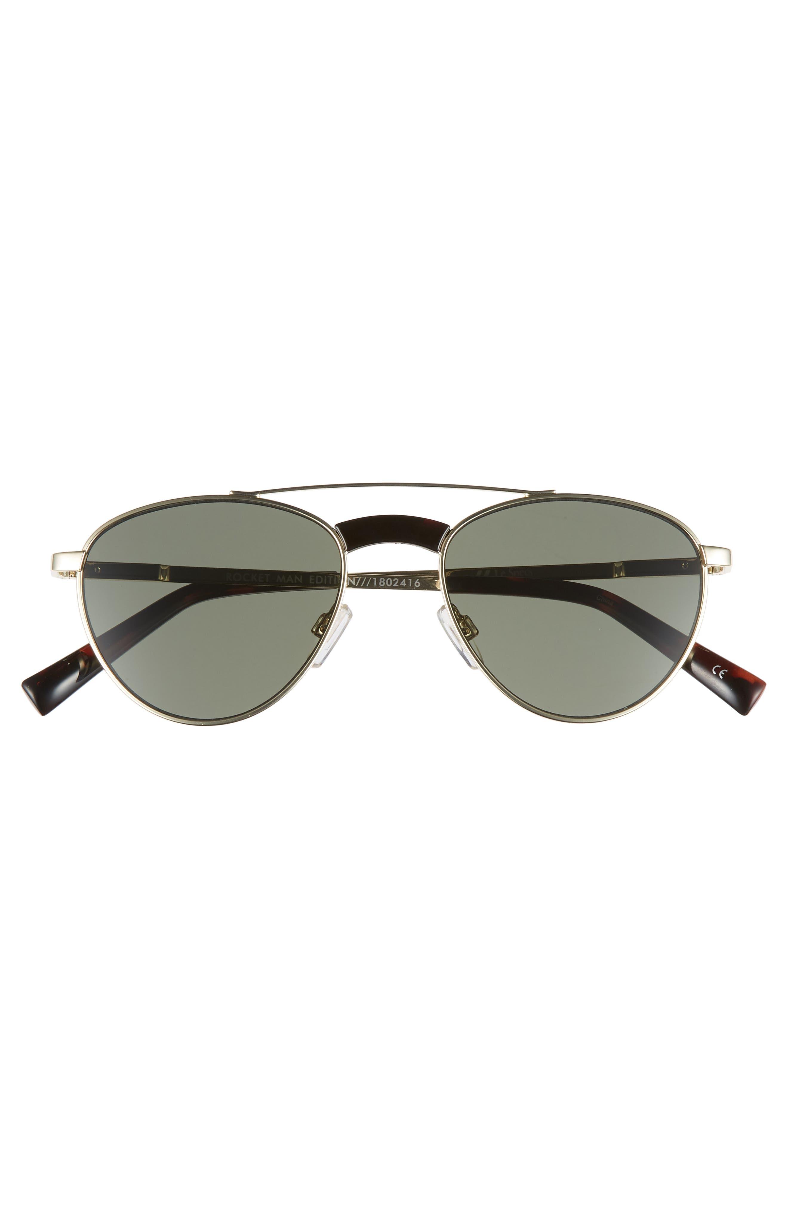 Rocket Man 52mm Aviator Sunglasses,                             Alternate thumbnail 3, color,                             BRIGHT GOLD