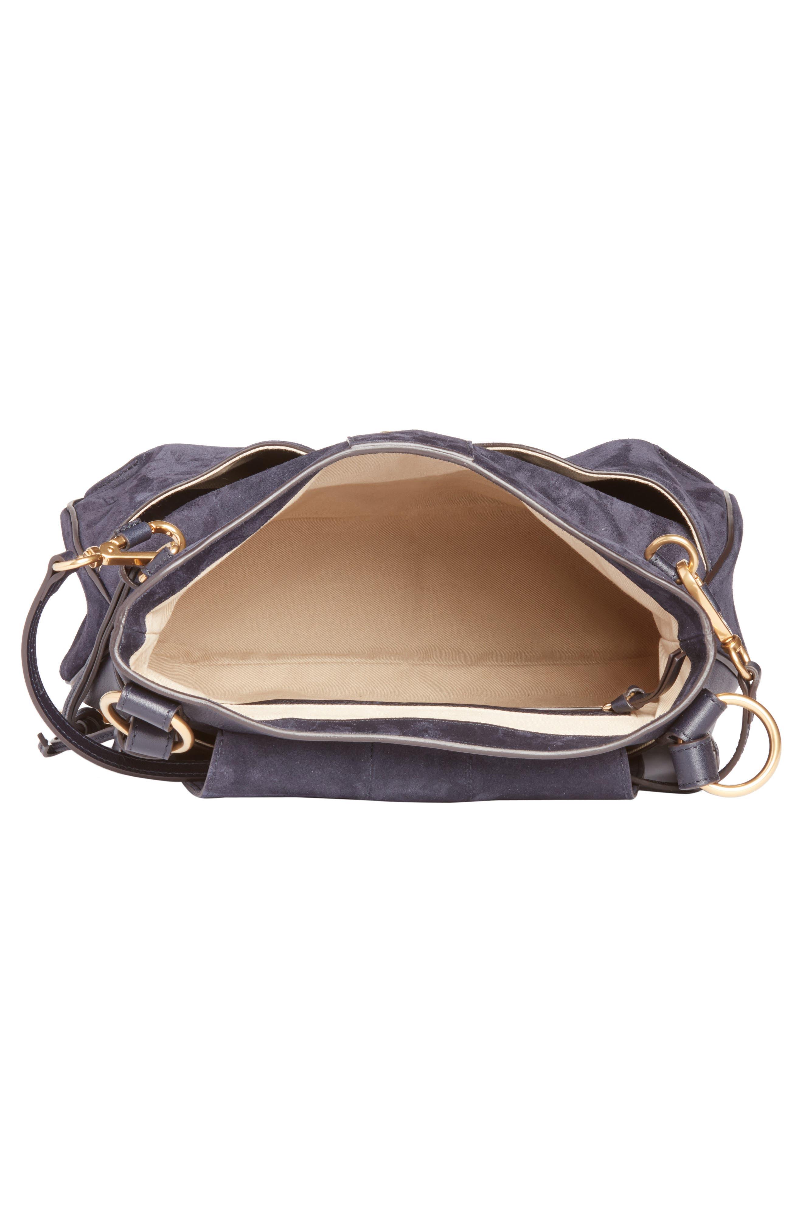 Medium Lexa Suede Shoulder Bag,                             Alternate thumbnail 3, color,                             412