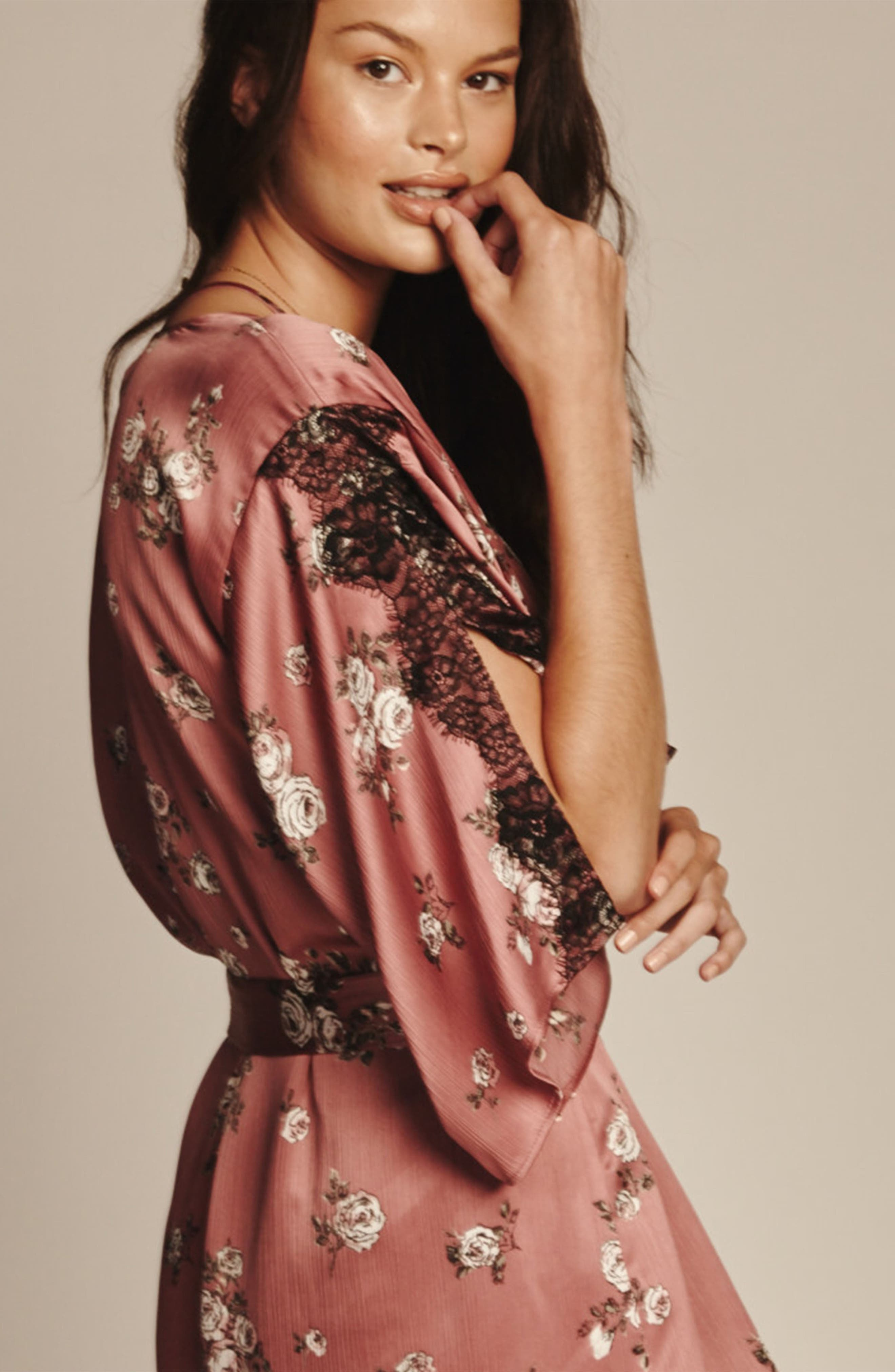 Tegan Kimono Wrap,                             Alternate thumbnail 6, color,                             ROSE