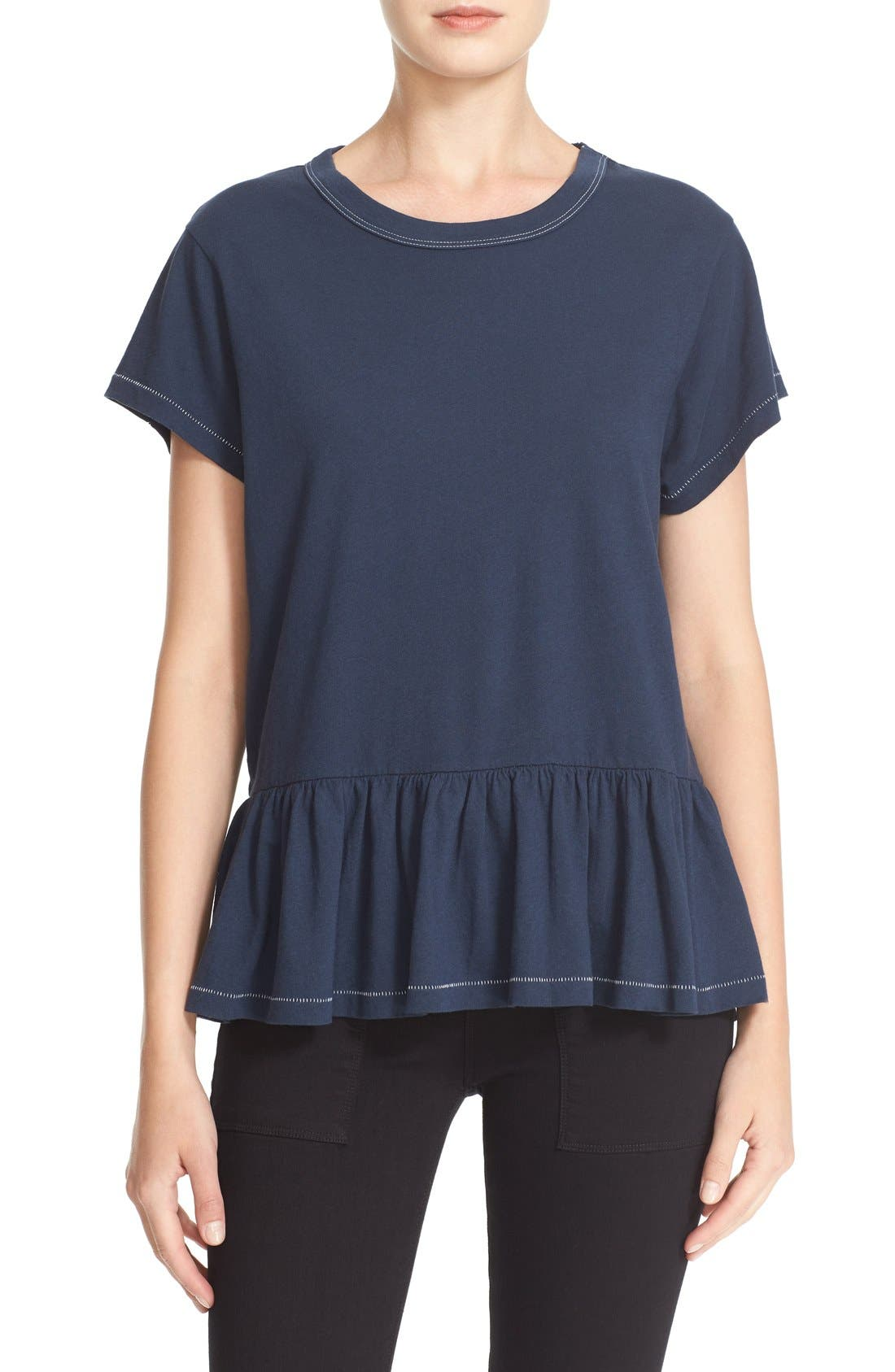 The Ruffle Tee,                             Main thumbnail 14, color,