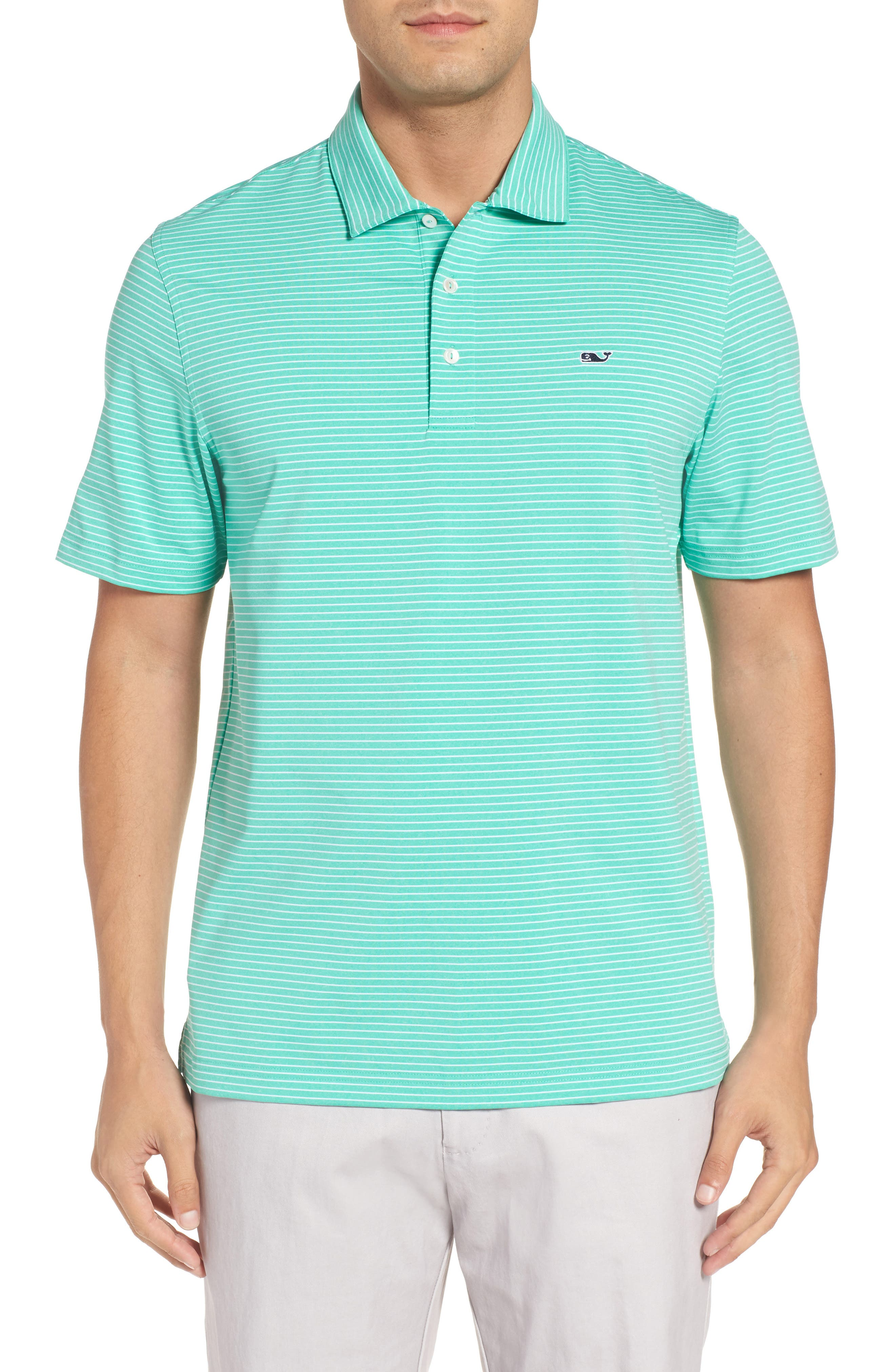 Heathered Wilson Stripe Polo,                             Main thumbnail 1, color,                             359