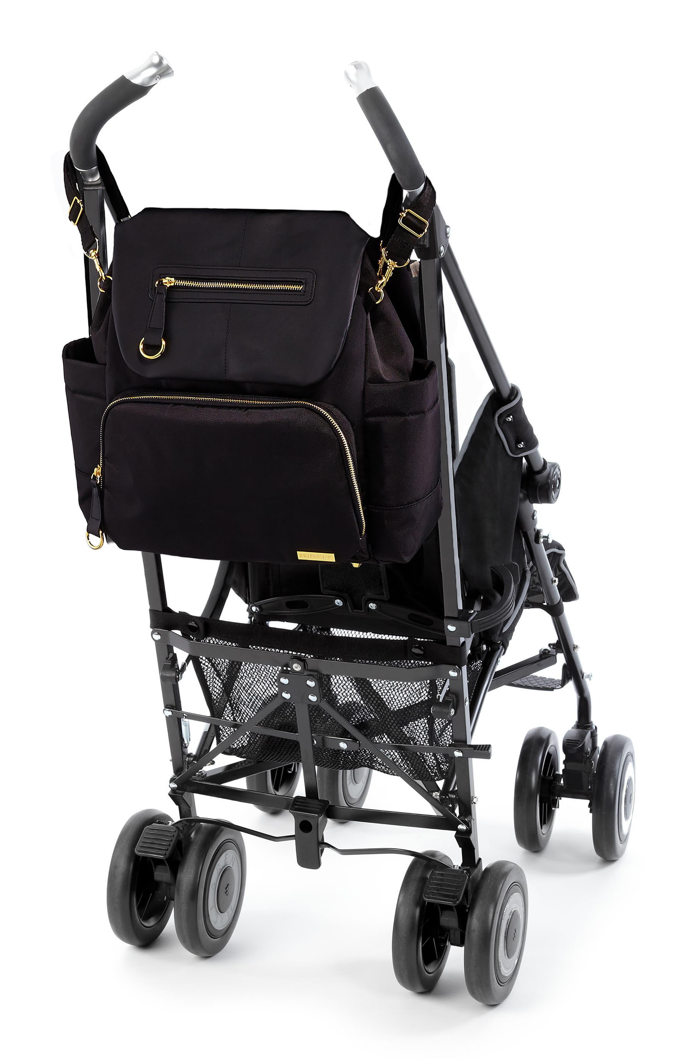 'Chelsea' Diaper Bag Backpack,                             Alternate thumbnail 10, color,                             BLACK