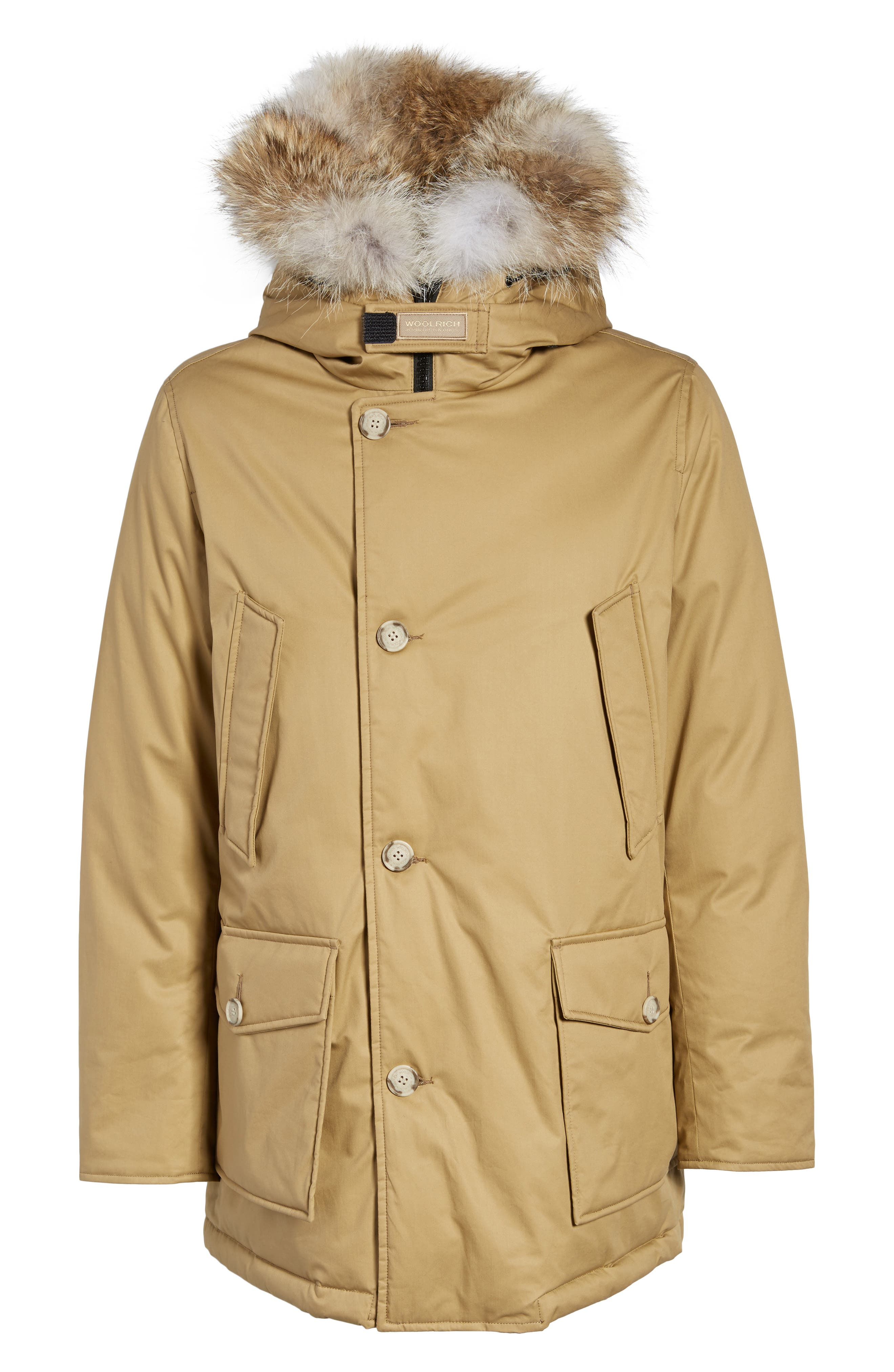 John Rich & Bros. Laminated Cotton Down Parka with Genuine Coyote Fur Trim,                             Alternate thumbnail 10, color,