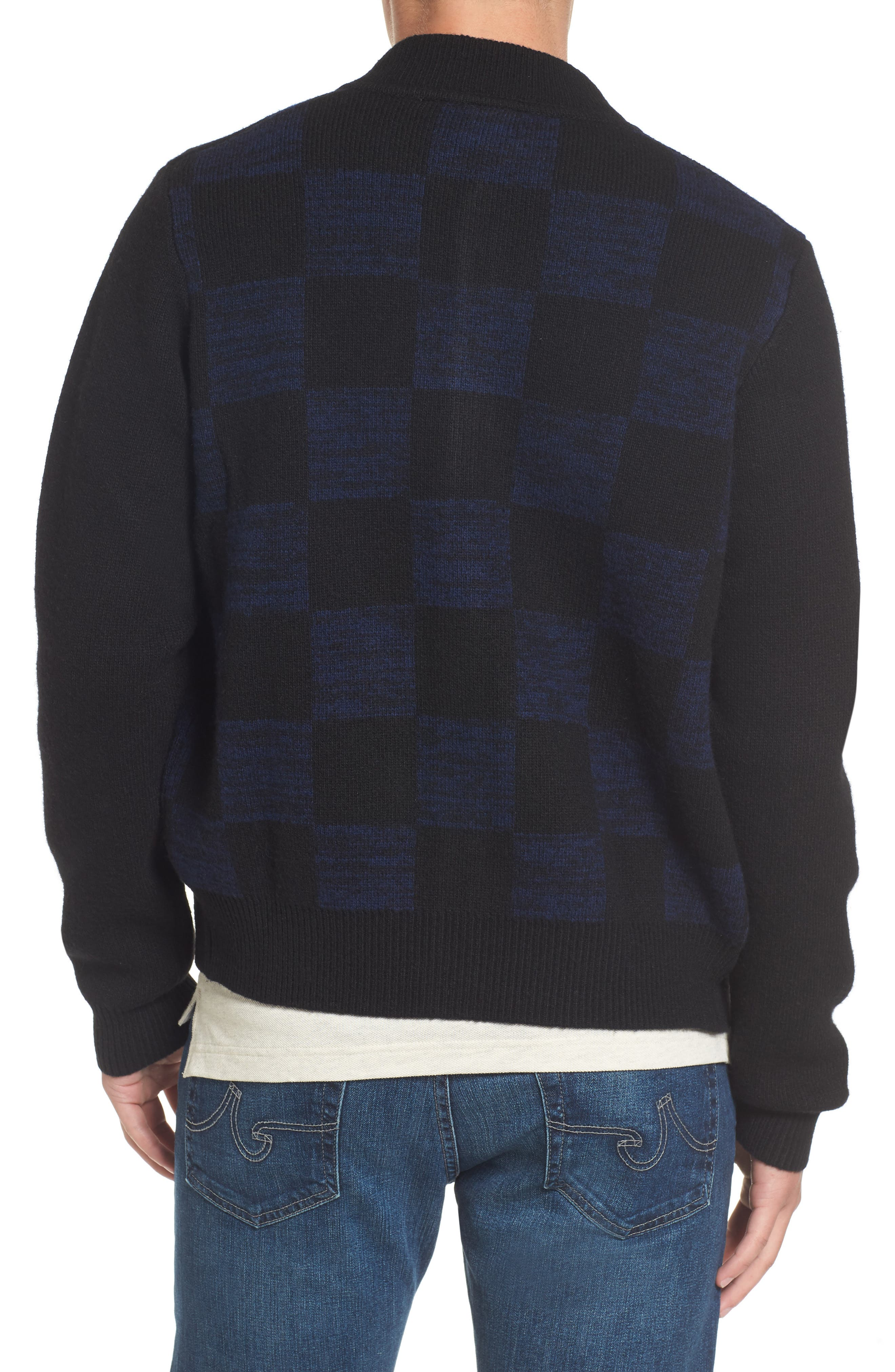 Double Face Check Sweater Jacket,                             Alternate thumbnail 2, color,                             006