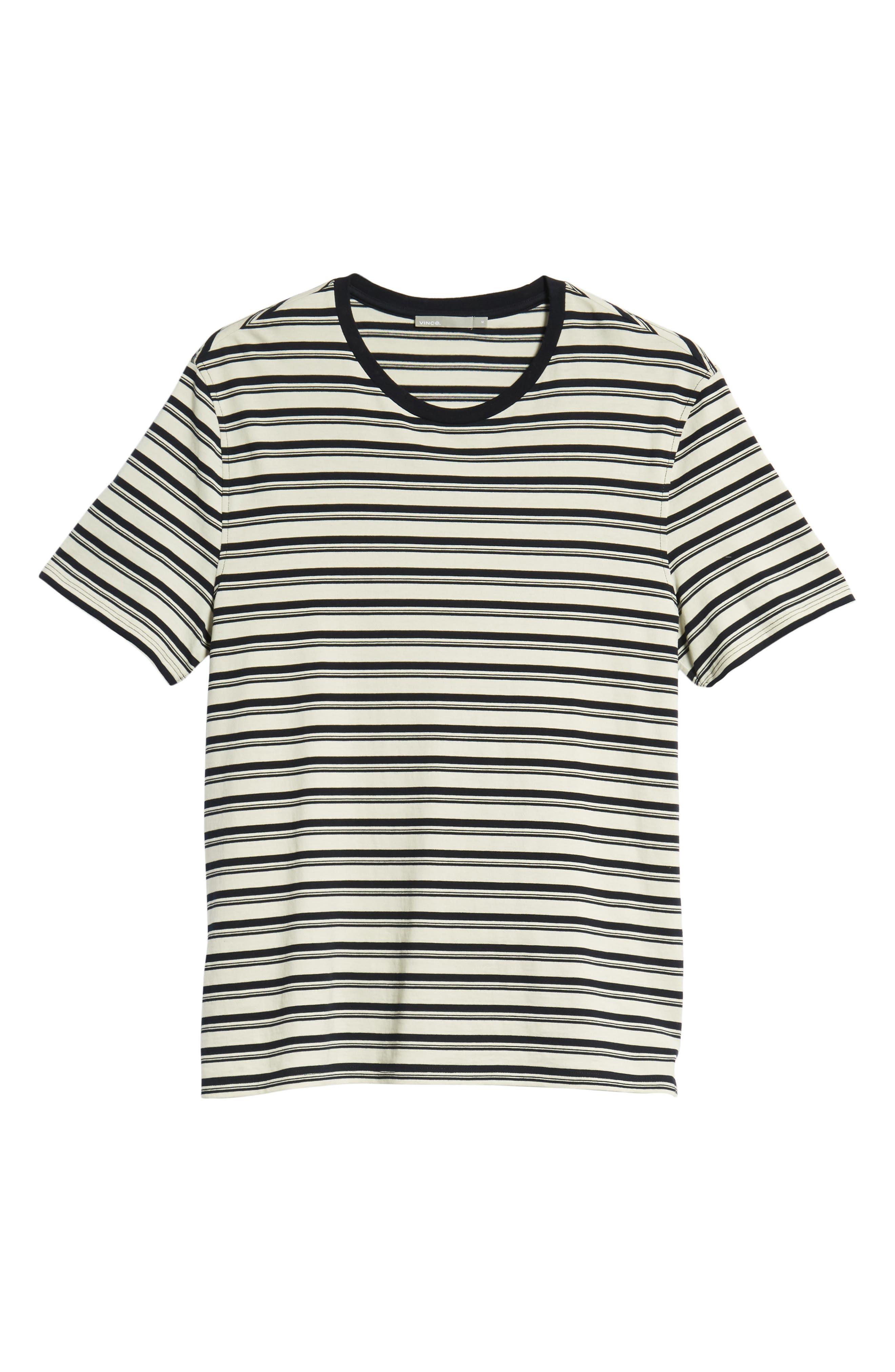 Variegated Stripe Regular Fit Cotton Crewneck T-Shirt,                             Alternate thumbnail 6, color,                             400