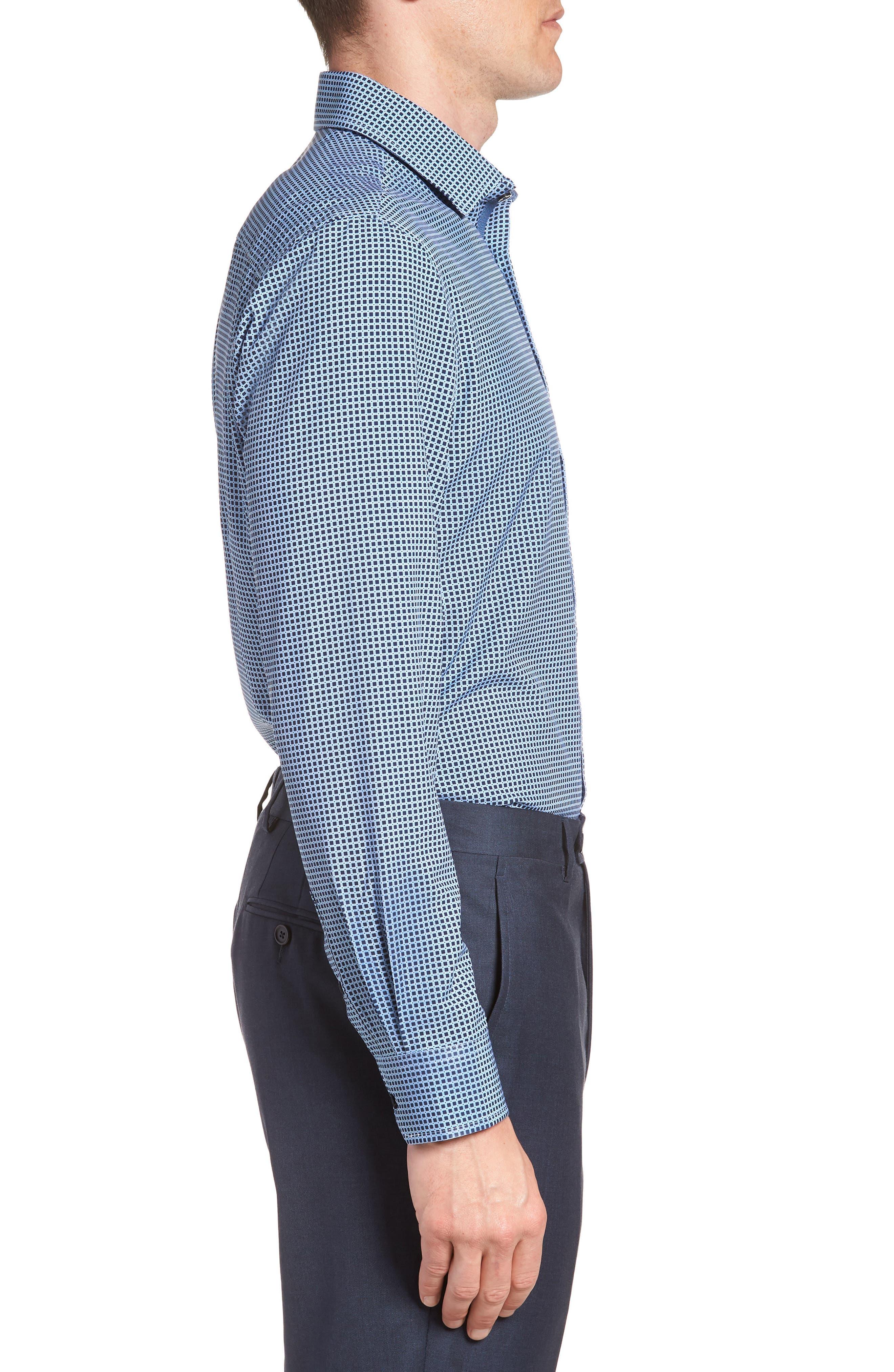 W.R.K,                             Trim Fit Check 4-Way Stretch Dress Shirt,                             Alternate thumbnail 4, color,                             410