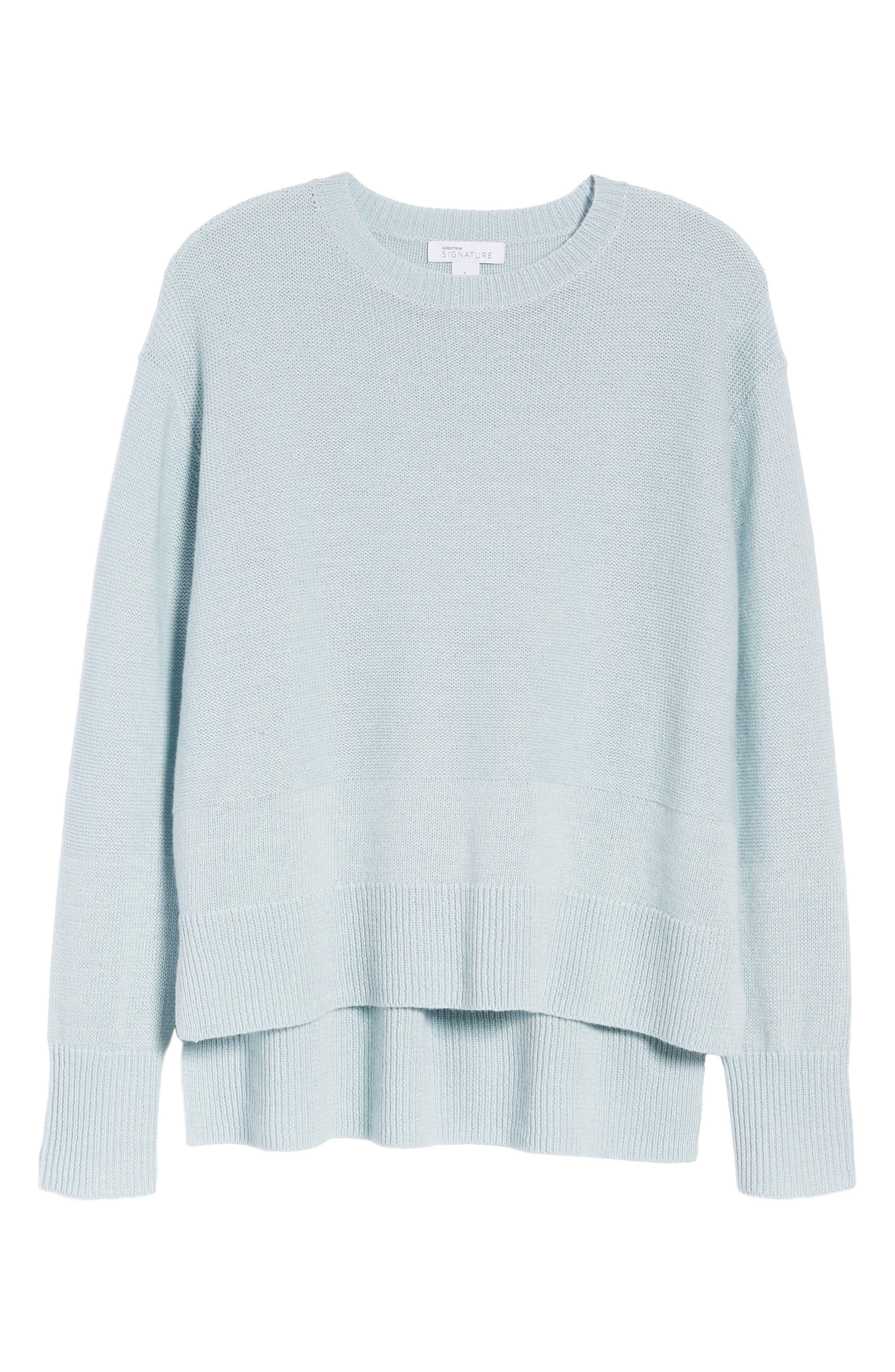 Linen & Cashmere Sweater,                             Alternate thumbnail 11, color,