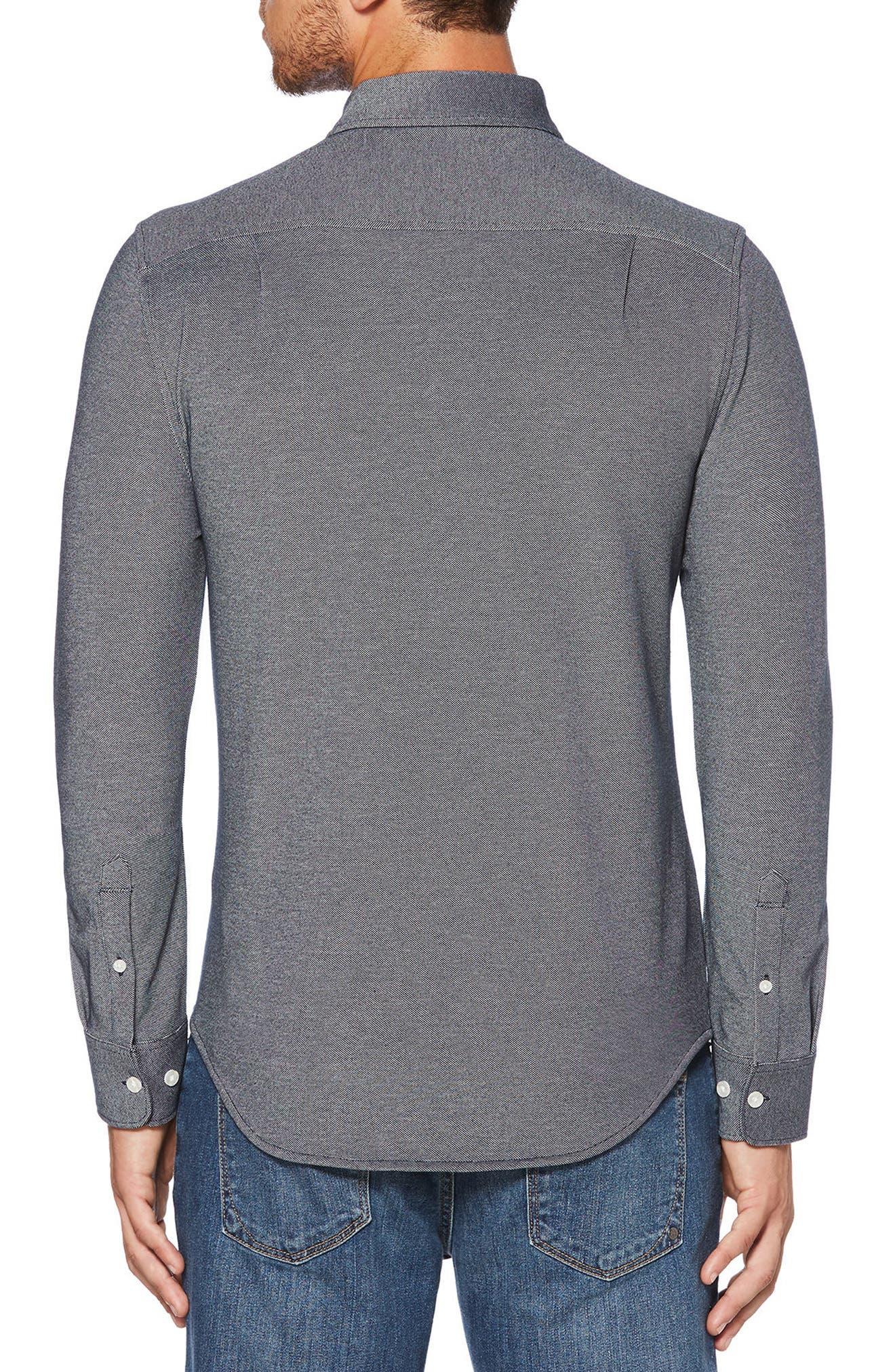 Knit Oxford Shirt,                             Alternate thumbnail 2, color,                             413